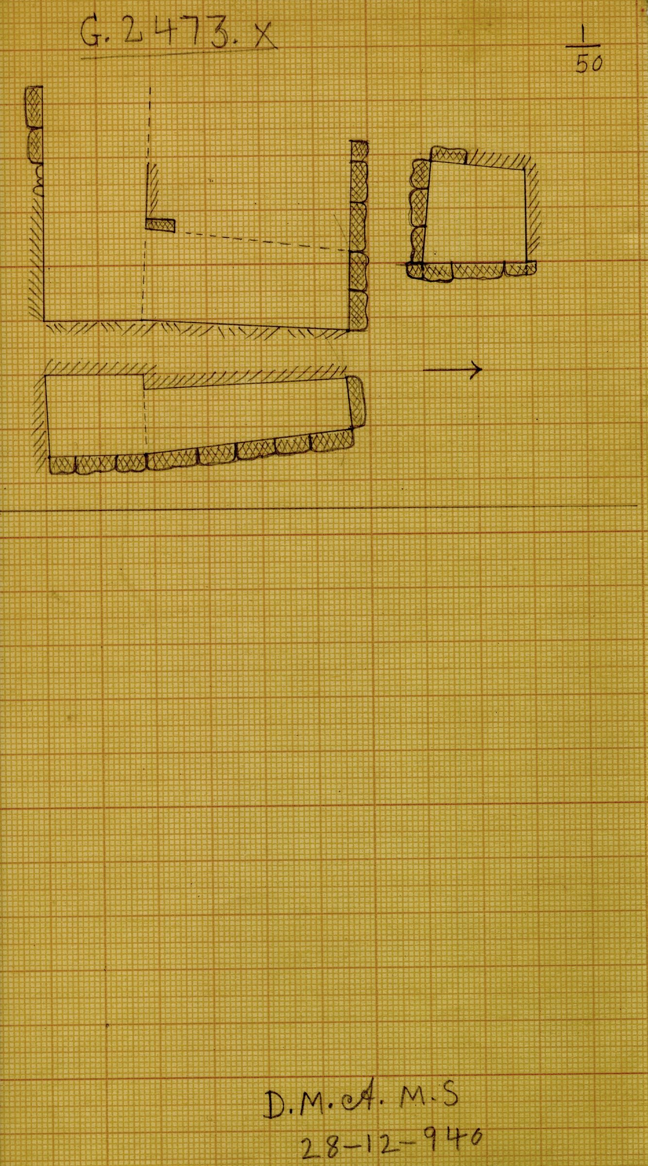 Maps and plans: G 2473, Shaft X