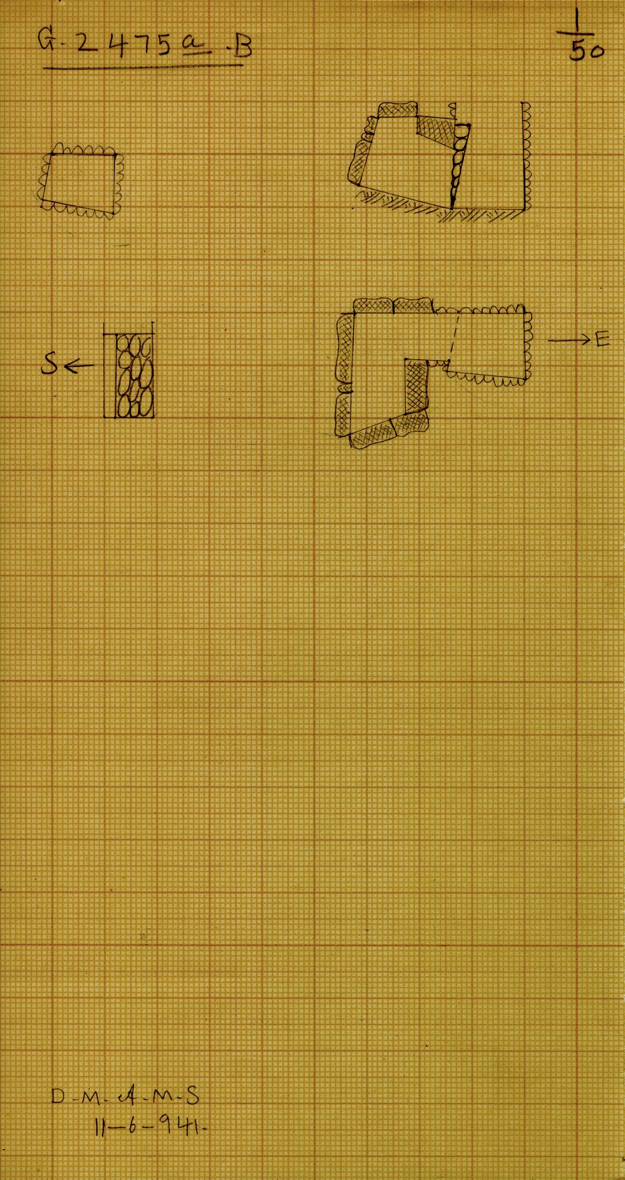 Maps and plans: G 2475a, Shaft B
