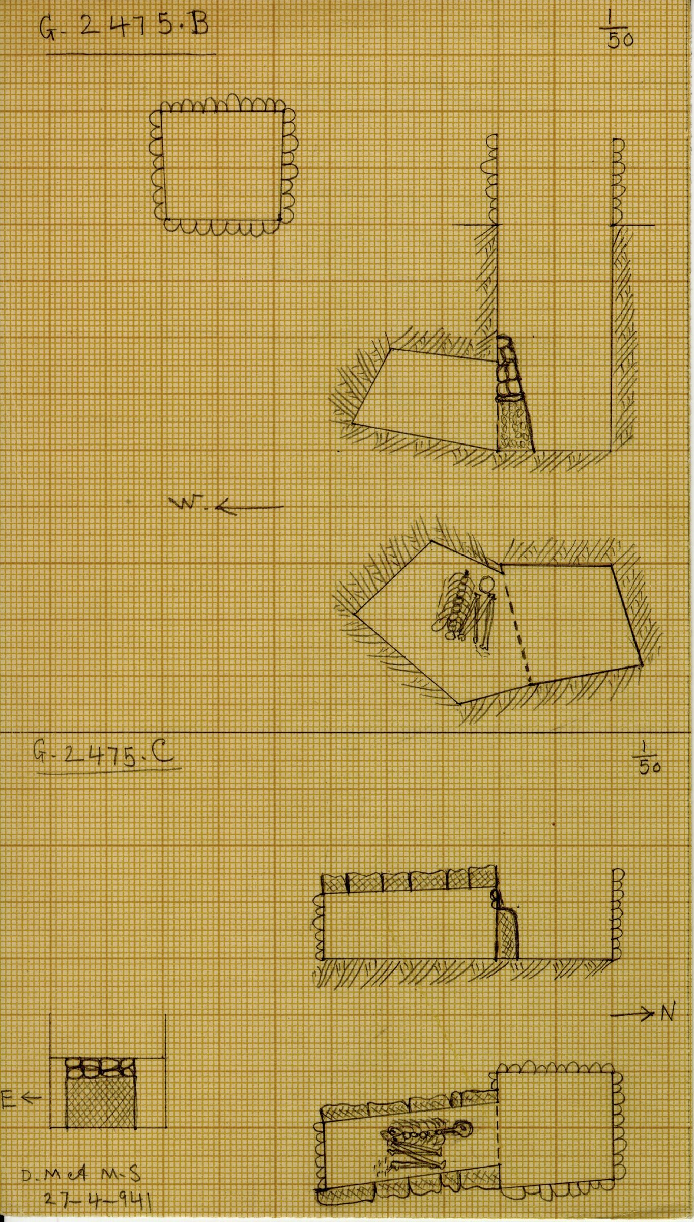 Maps and plans: G 2475, Shaft B and C