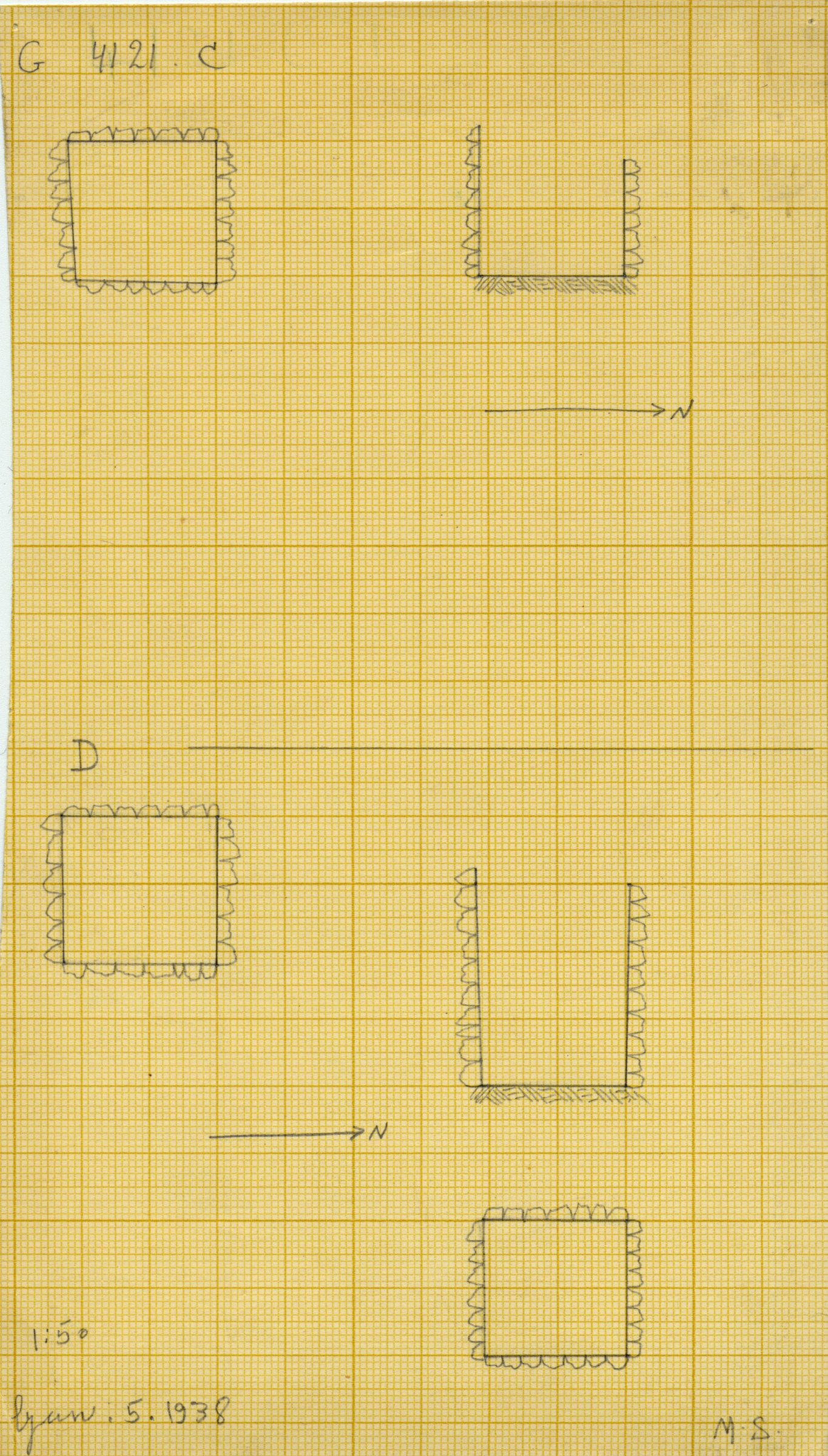 Maps and plans: G 4121, Shaft C and D