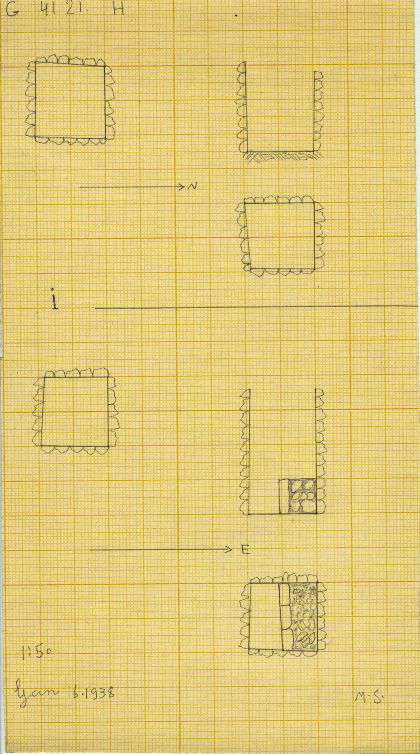 Maps and plans: G 4121, Shaft H and I
