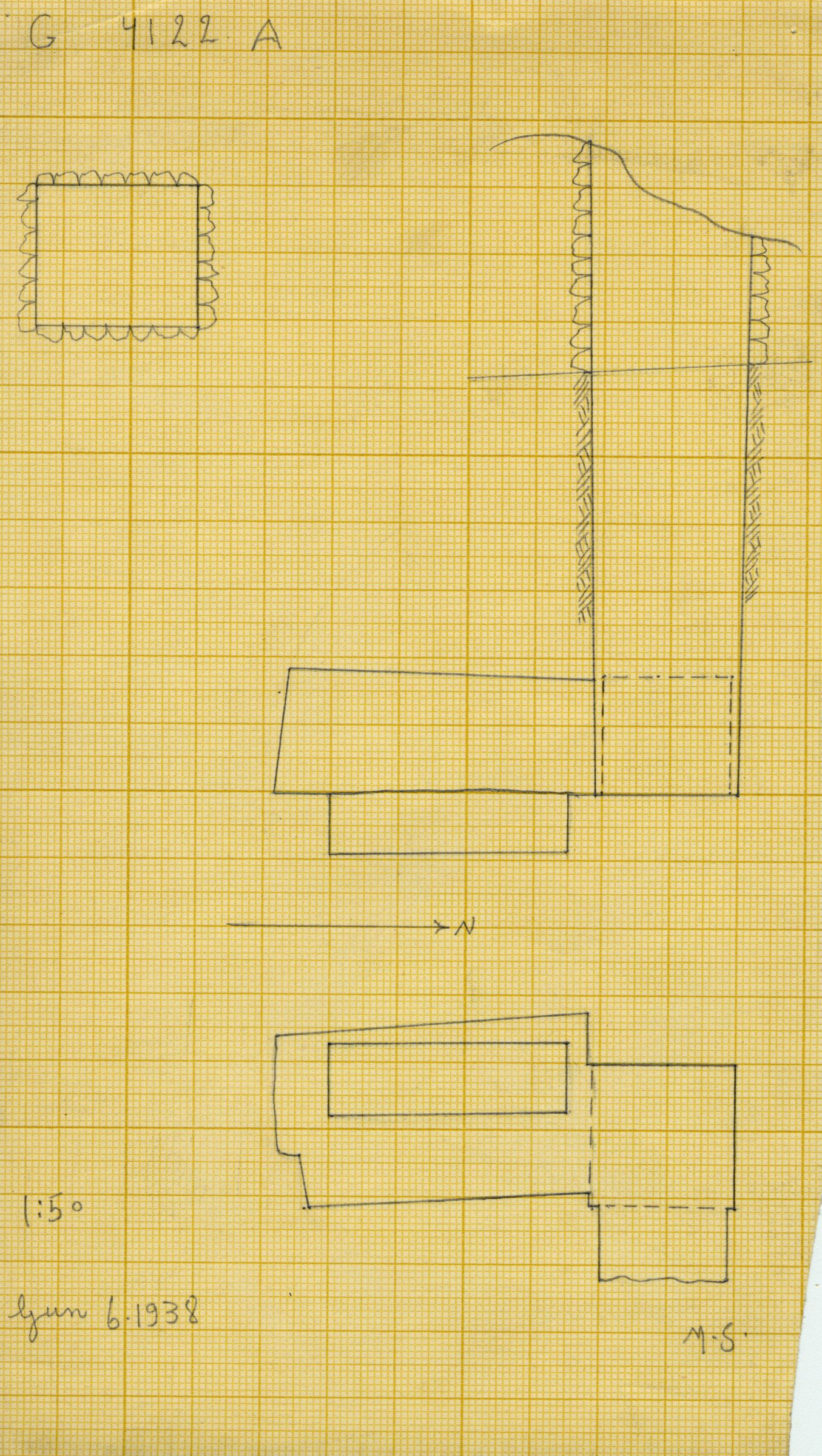 Maps and plans: G 4122, Shaft A
