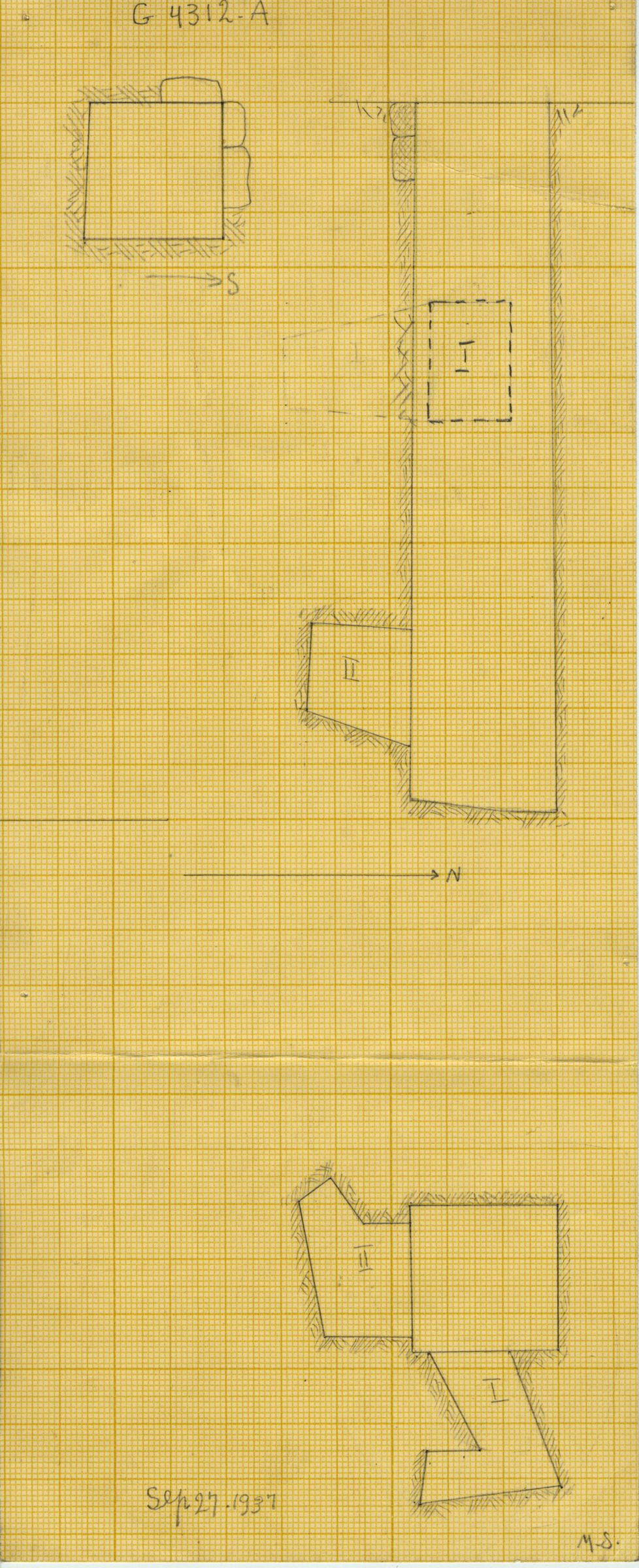 Maps and plans: G 4312, Shaft A