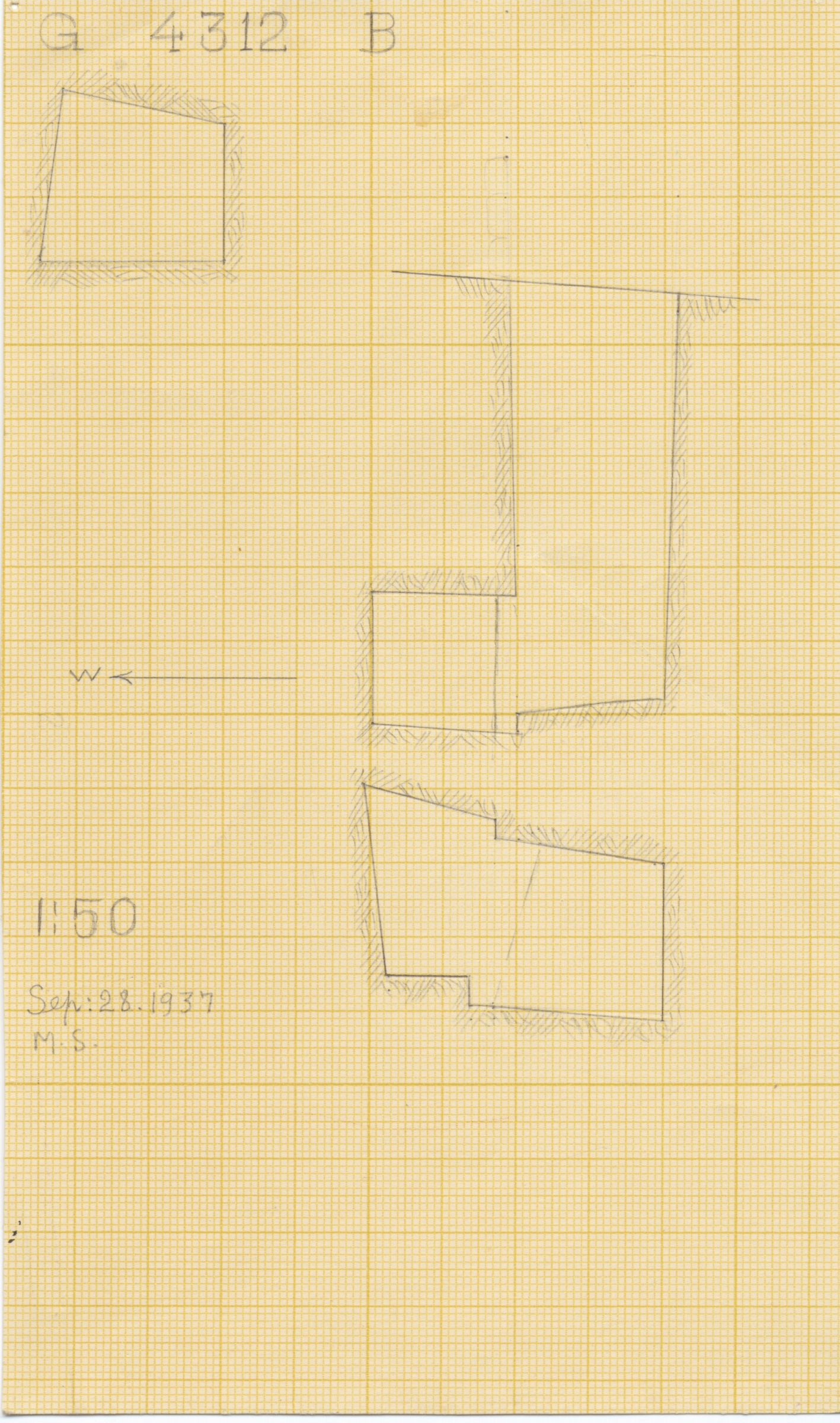 Maps and plans: G 4312, Shaft B