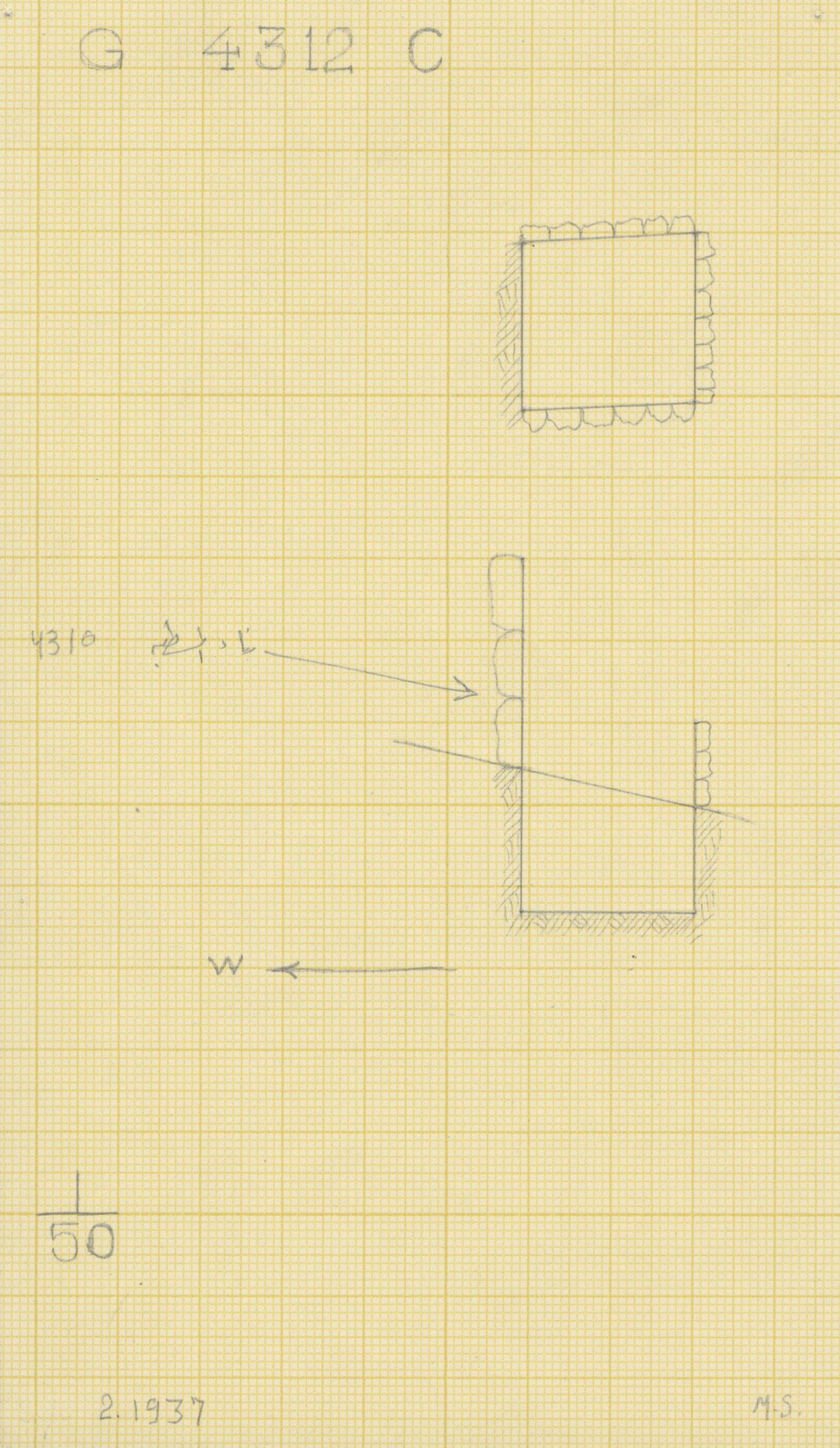 Maps and plans: G 4312, Shaft C