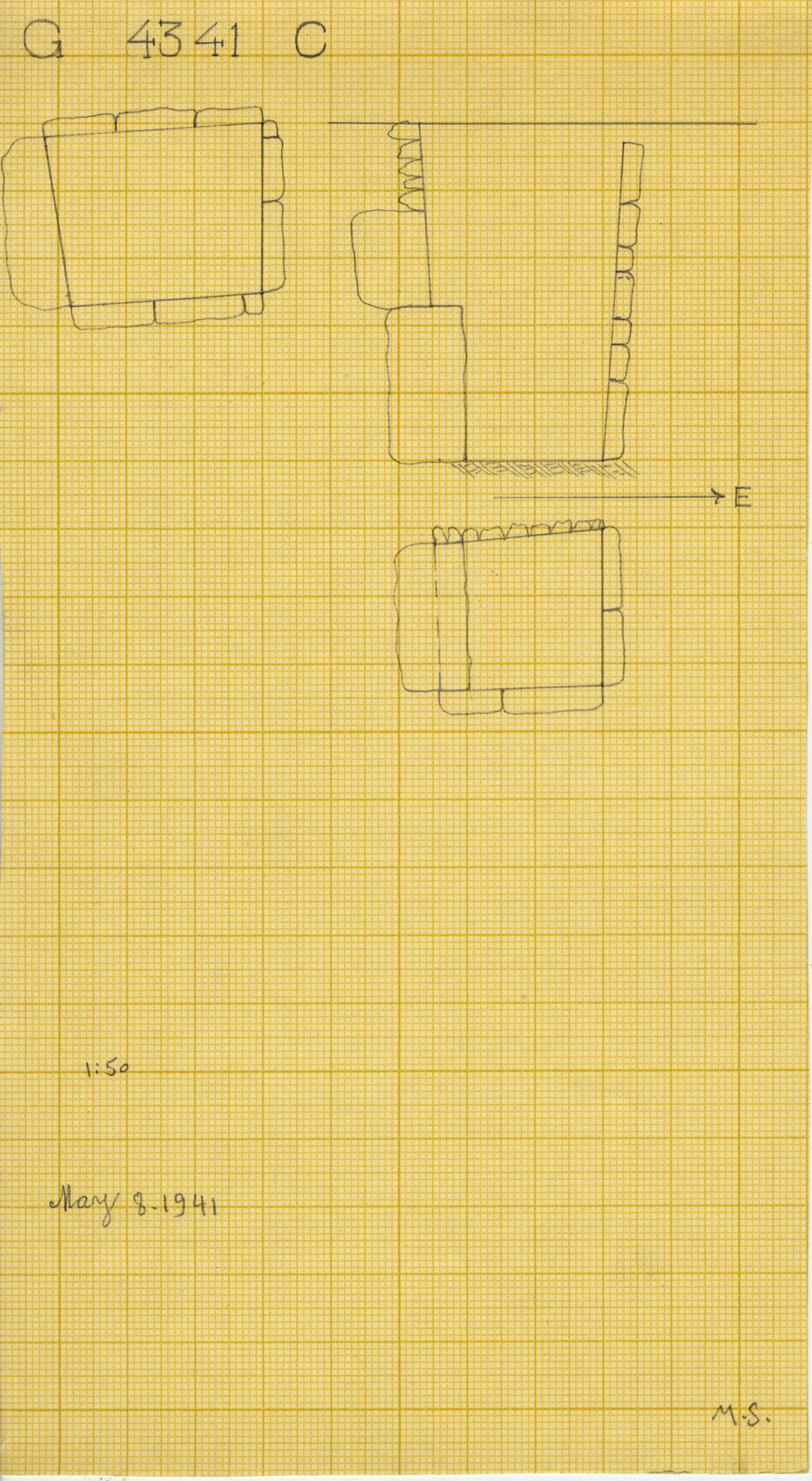 Maps and plans: G 4341, Shaft C