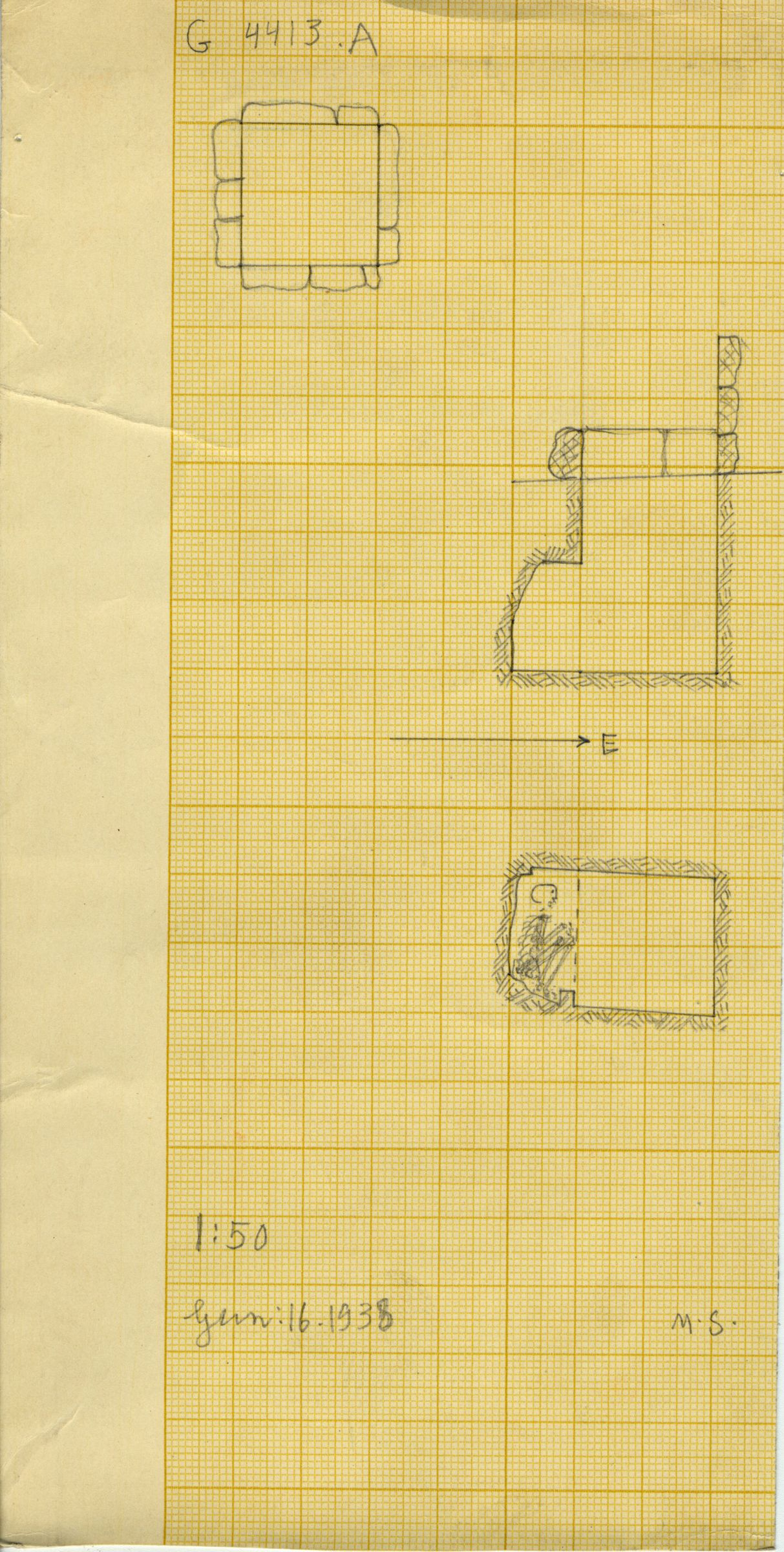 Maps and plans: G 4413, Shaft A