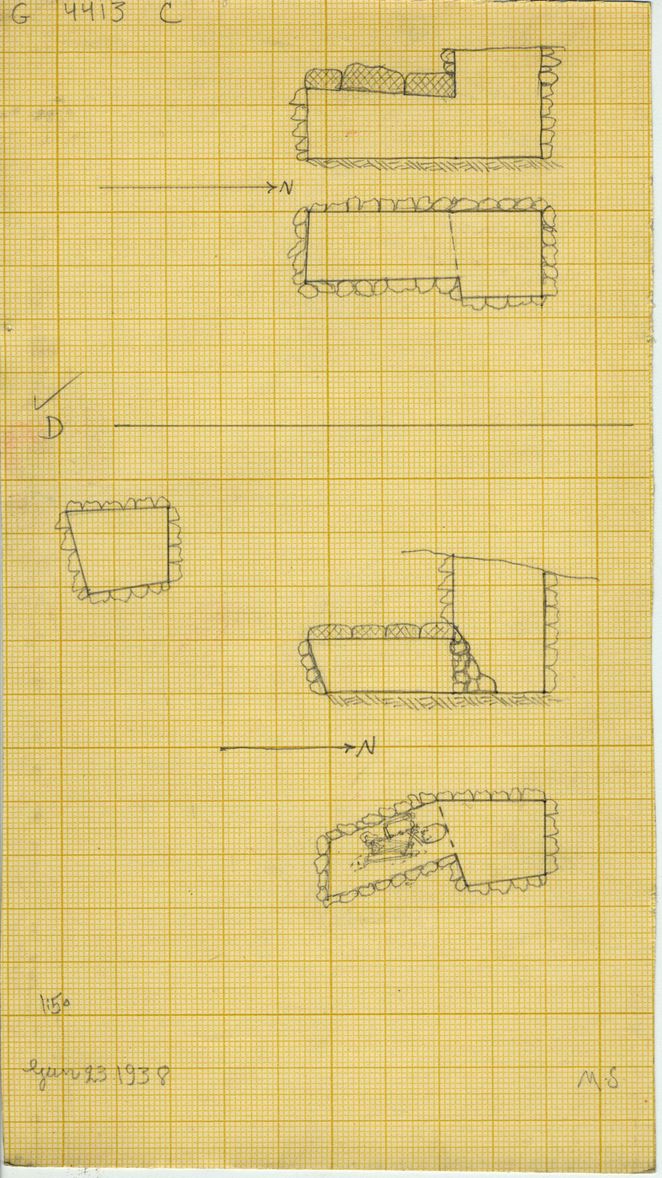Maps and plans: G 4413, Shaft C and D