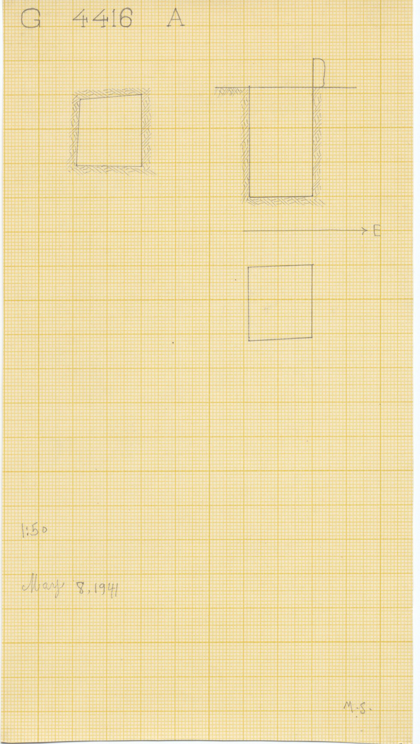 Maps and plans: G 4416, Shaft A