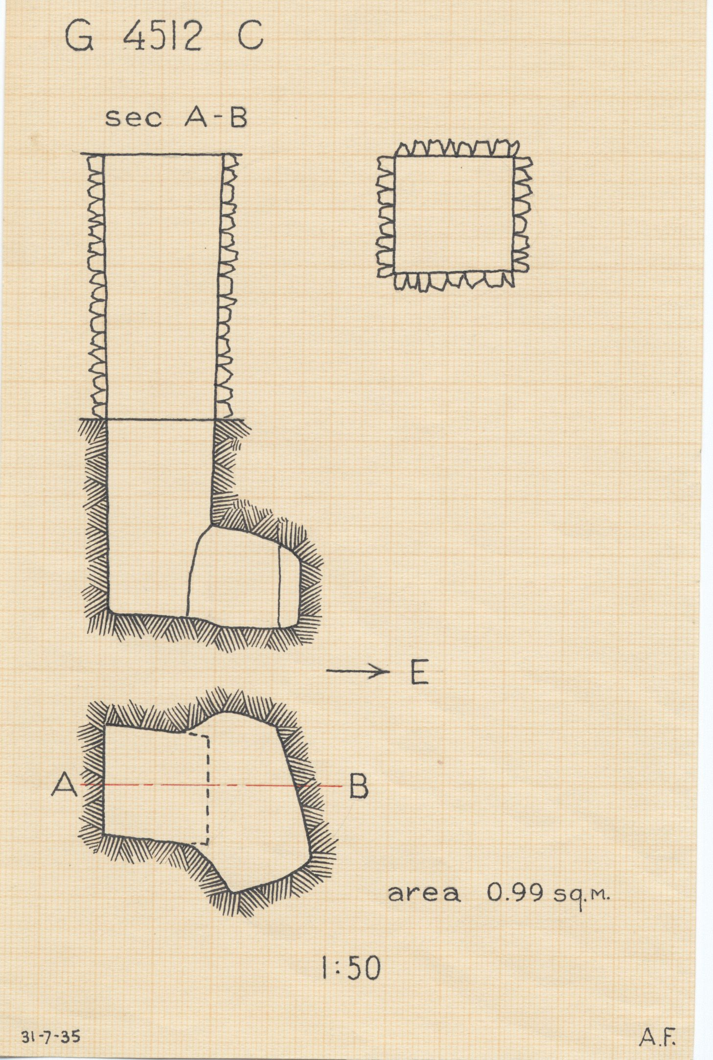 Maps and plans: G 4512, Shaft C
