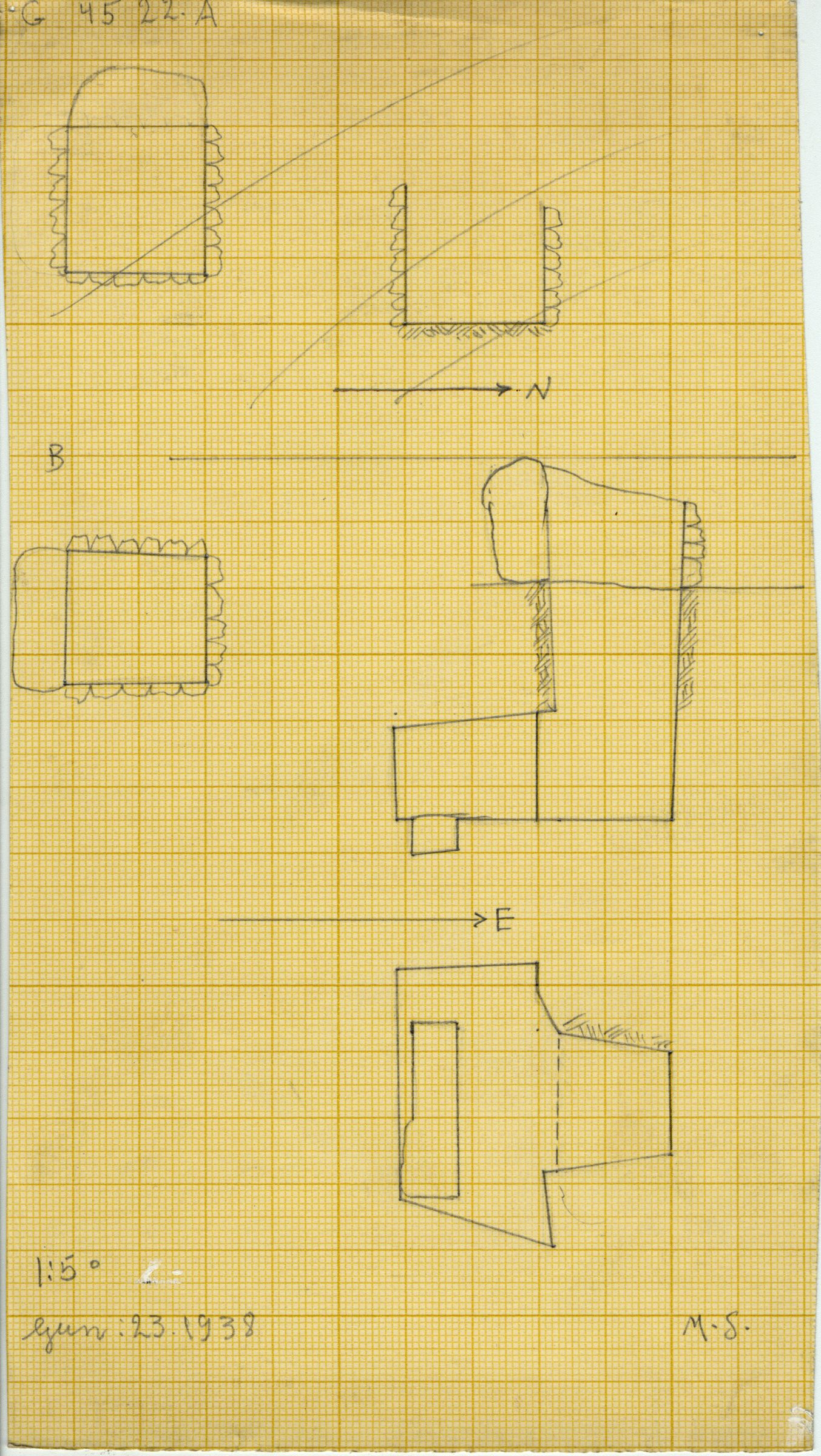 Maps and plans: G 4522, Shaft A and B