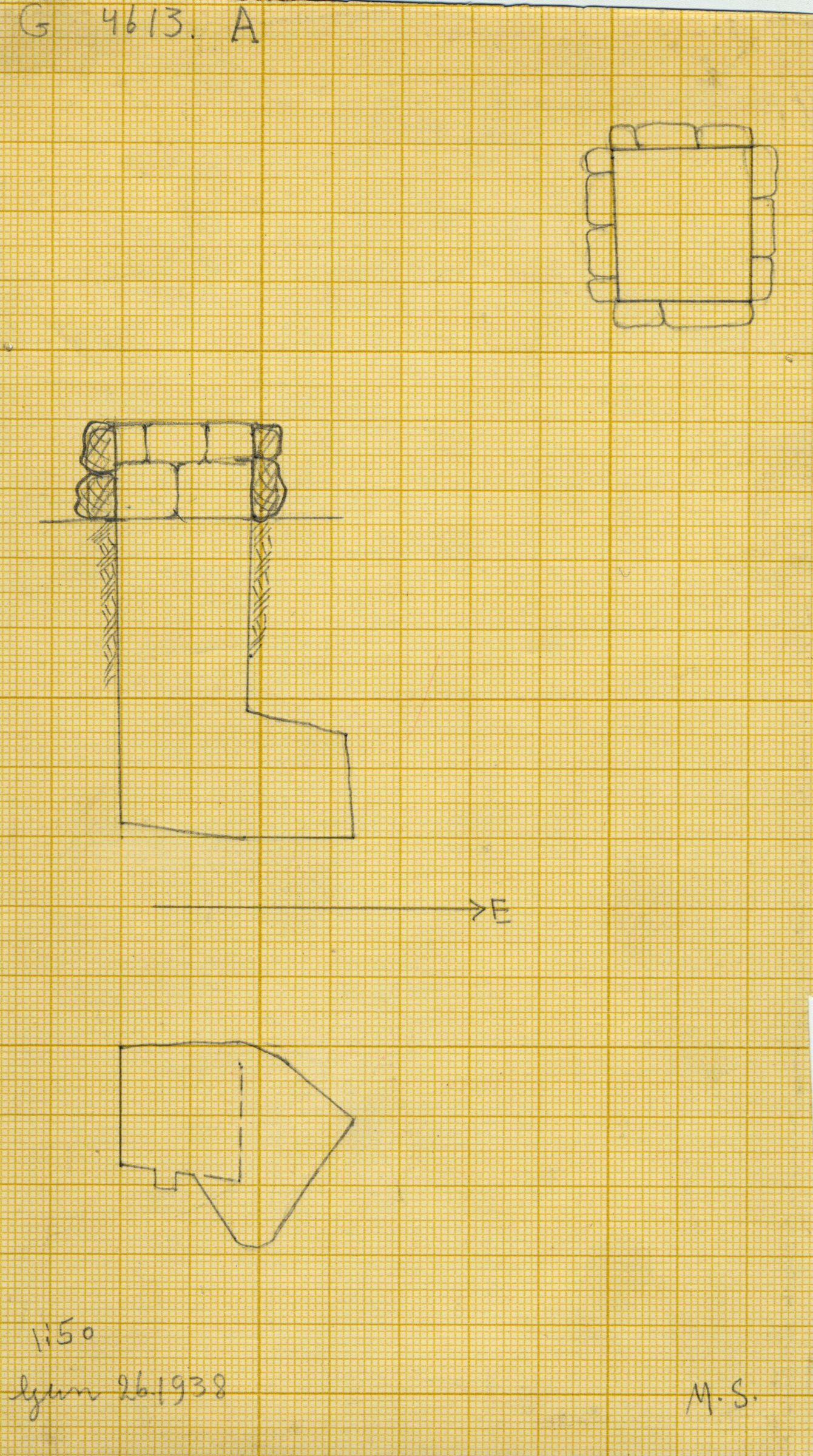 Maps and plans: G 4613, Shaft A