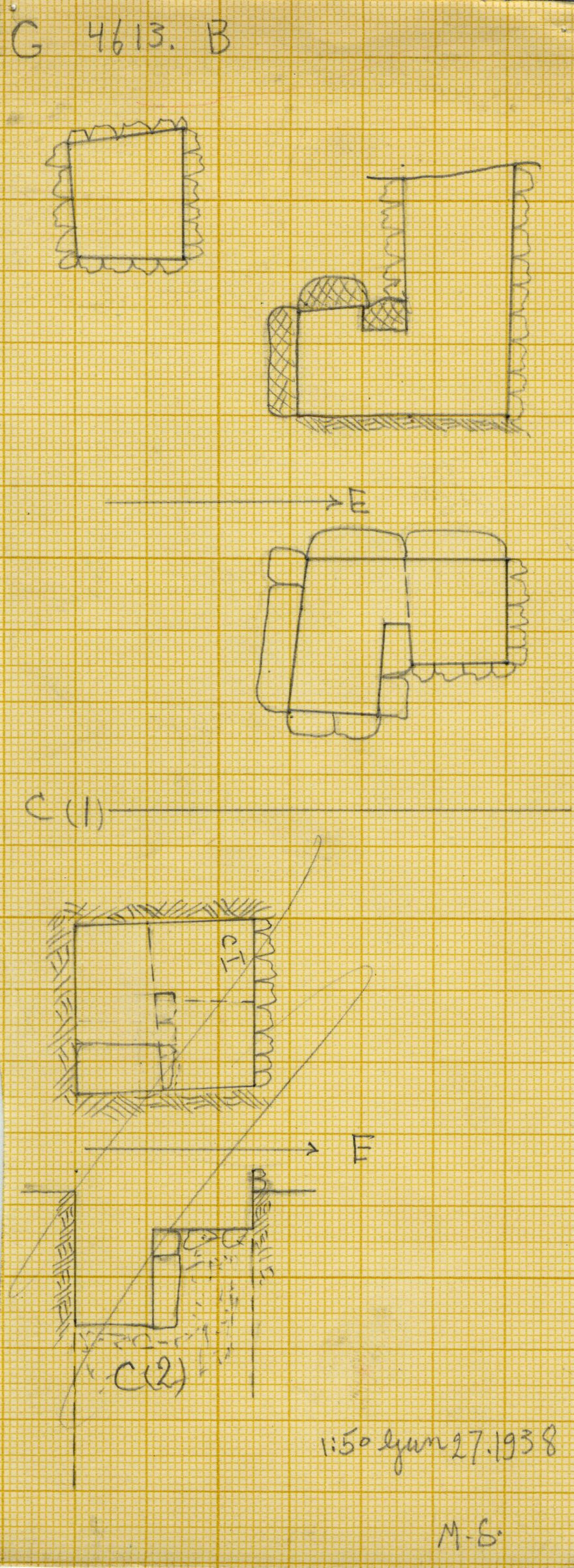 Maps and plans: G 4613, Shaft B and C1