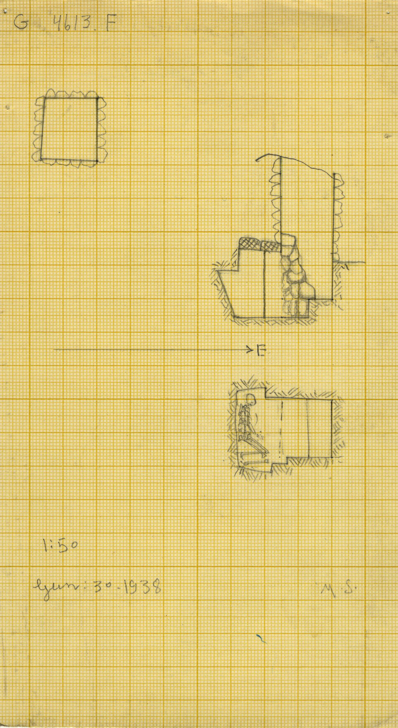 Maps and plans: G 4613, Shaft F