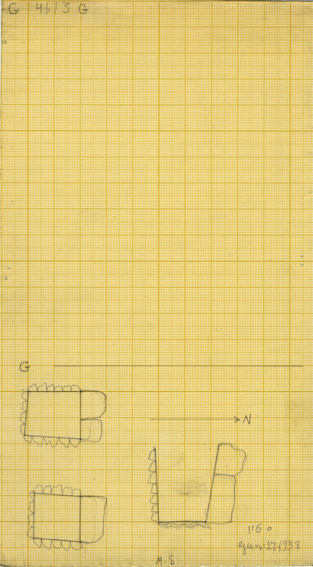 Maps and plans: G 4613, Shaft G