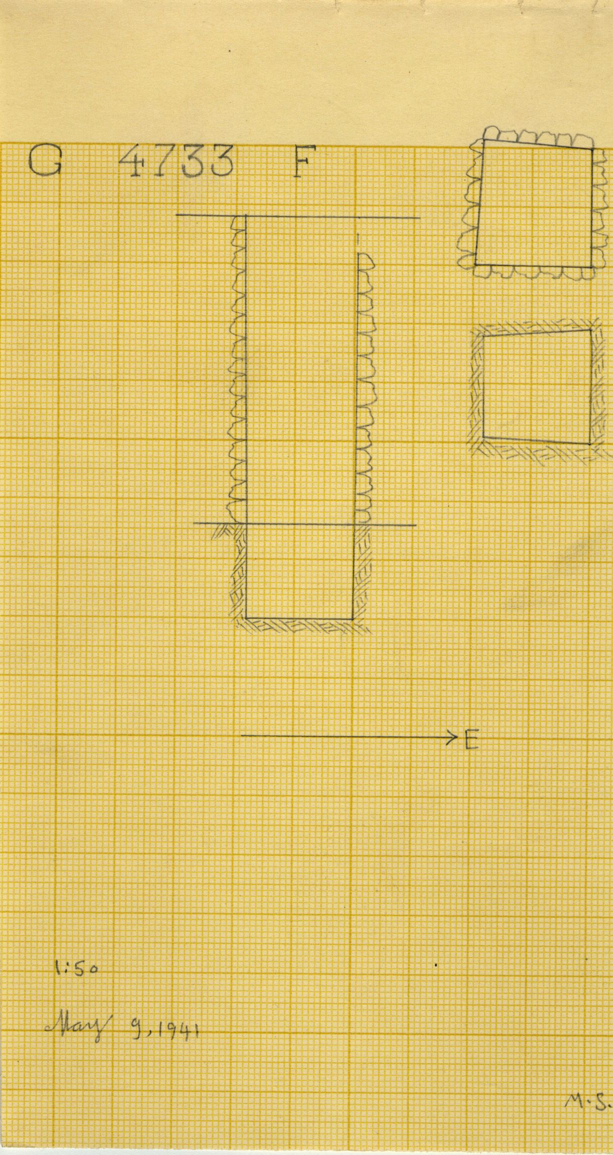 Maps and plans: G 4733, Shaft F
