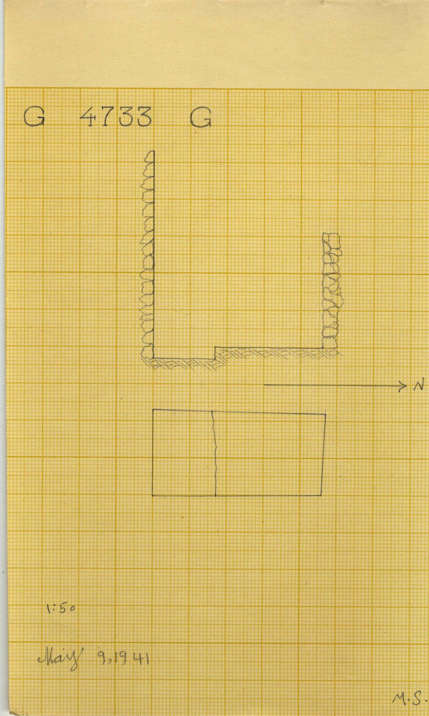 Maps and plans: G 4733, Shaft G