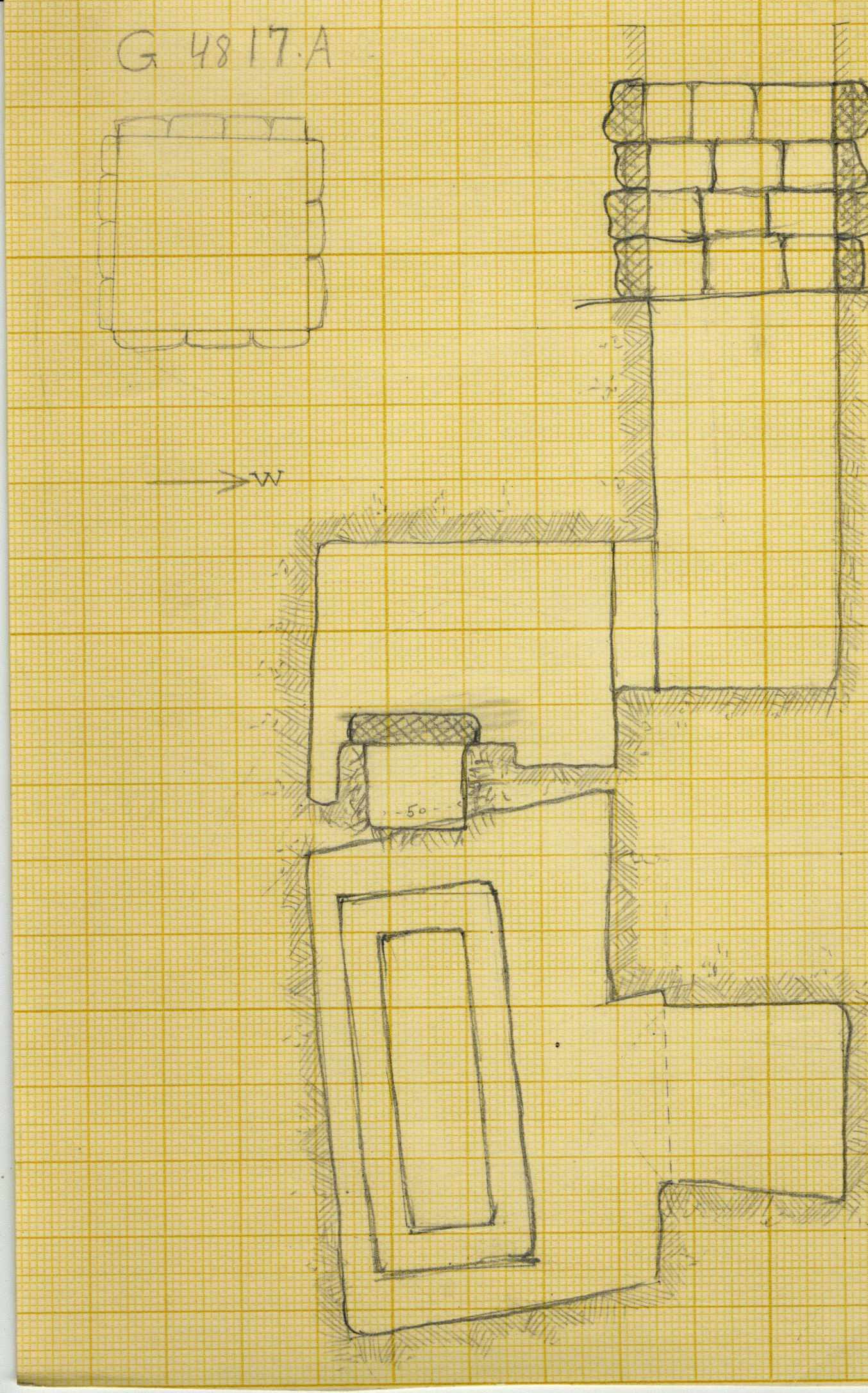 Maps and plans: G 4817, Shaft A