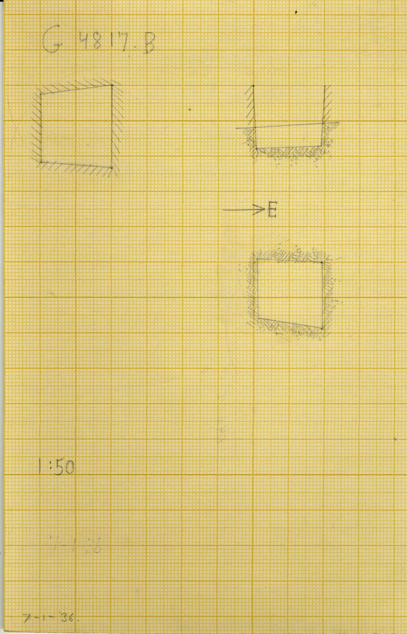 Maps and plans: G 4817, Shaft B