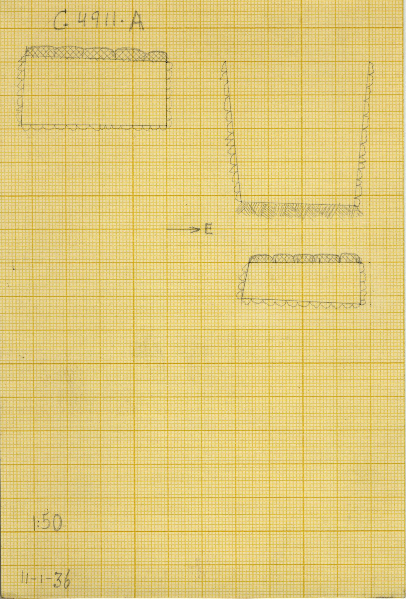 Maps and plans: G 4911, Shaft A