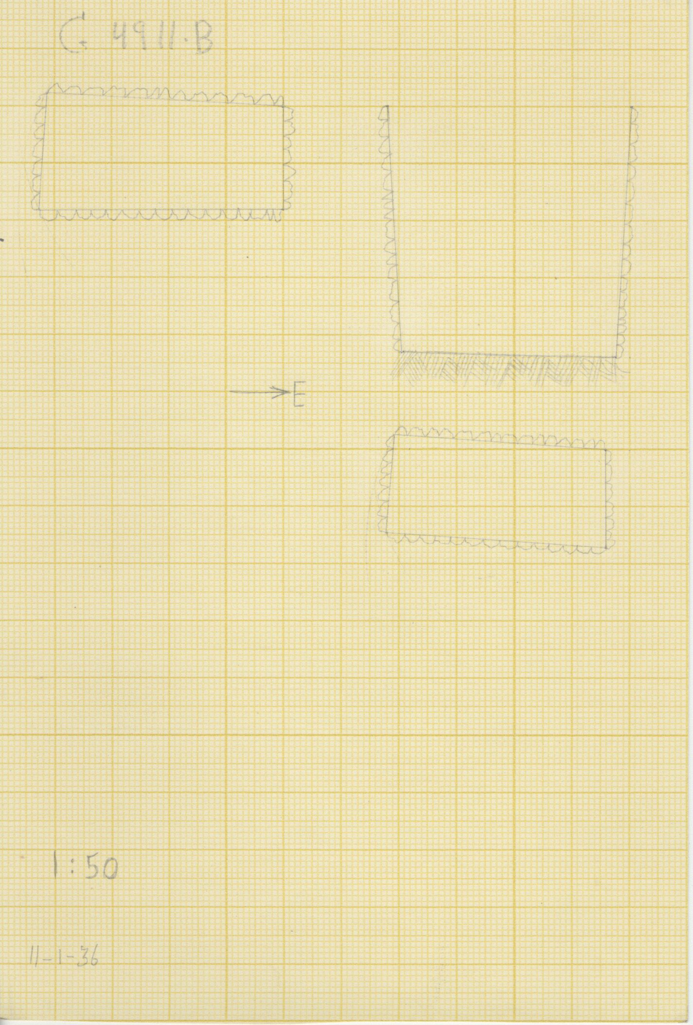 Maps and plans: G 4911, Shaft B