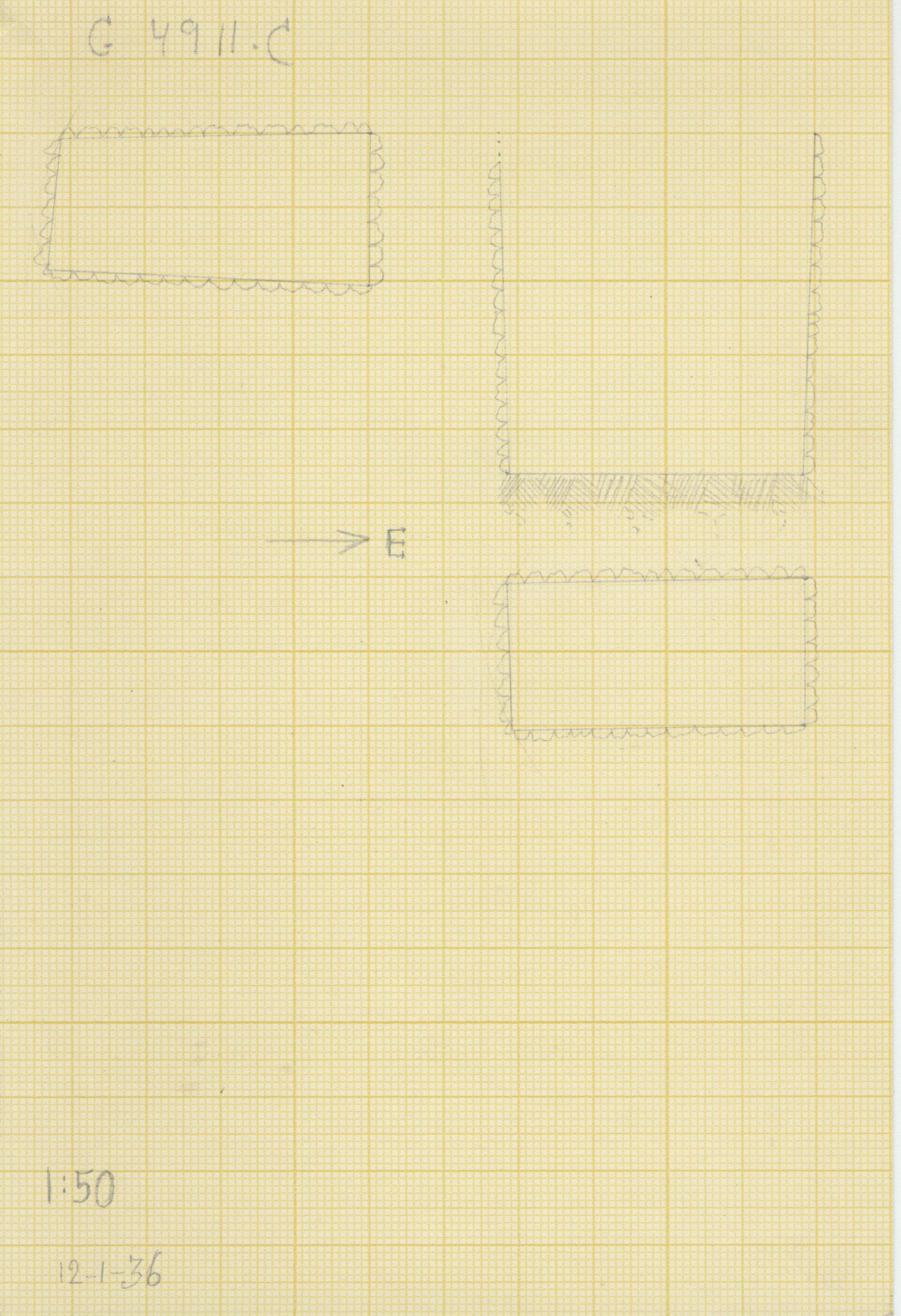Maps and plans: G 4911, Shaft C
