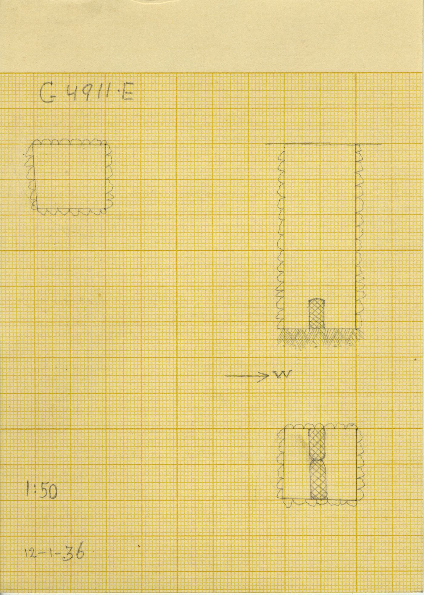 Maps and plans: G 4911, Shaft E