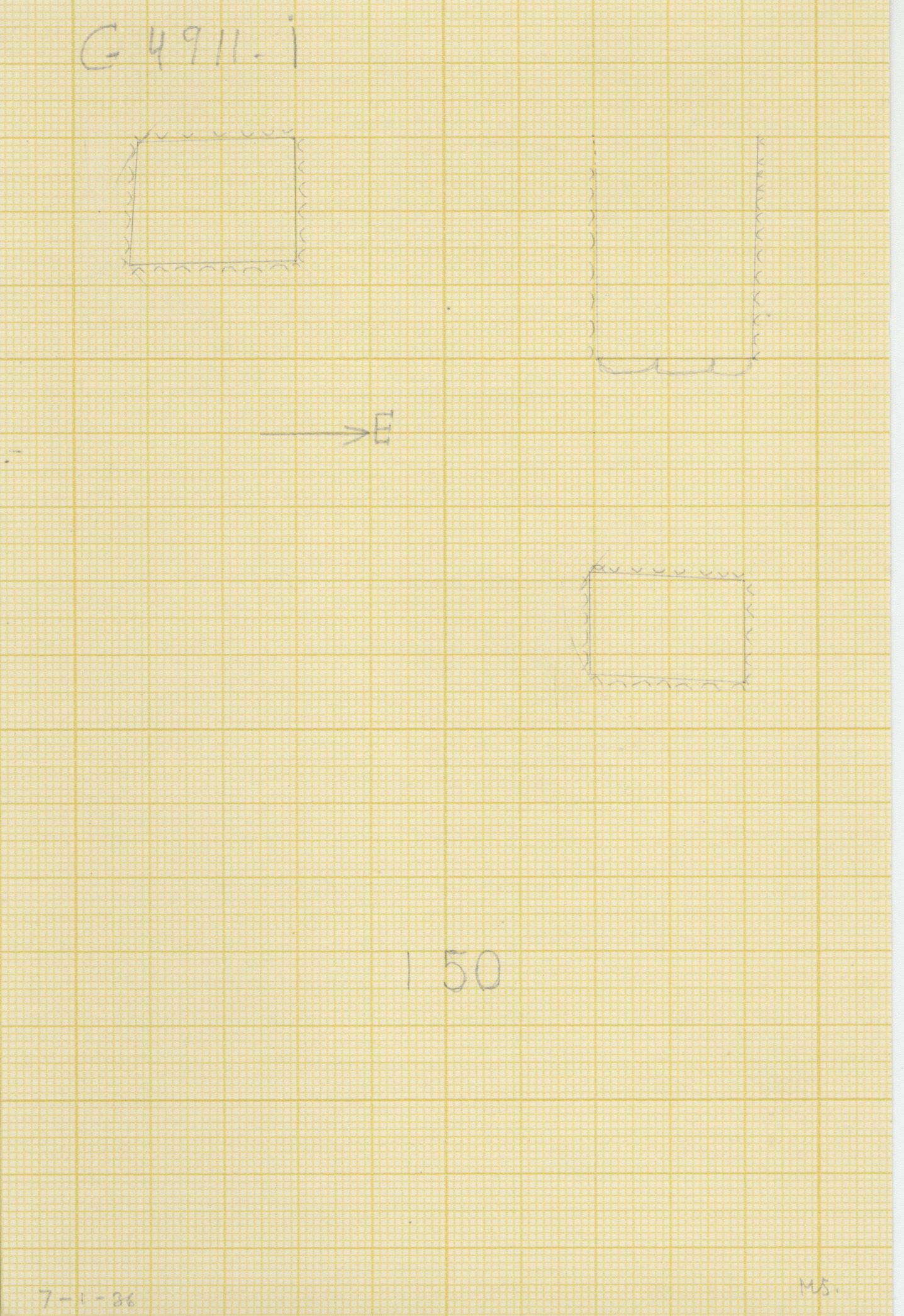 Maps and plans: G 4911, Shaft I