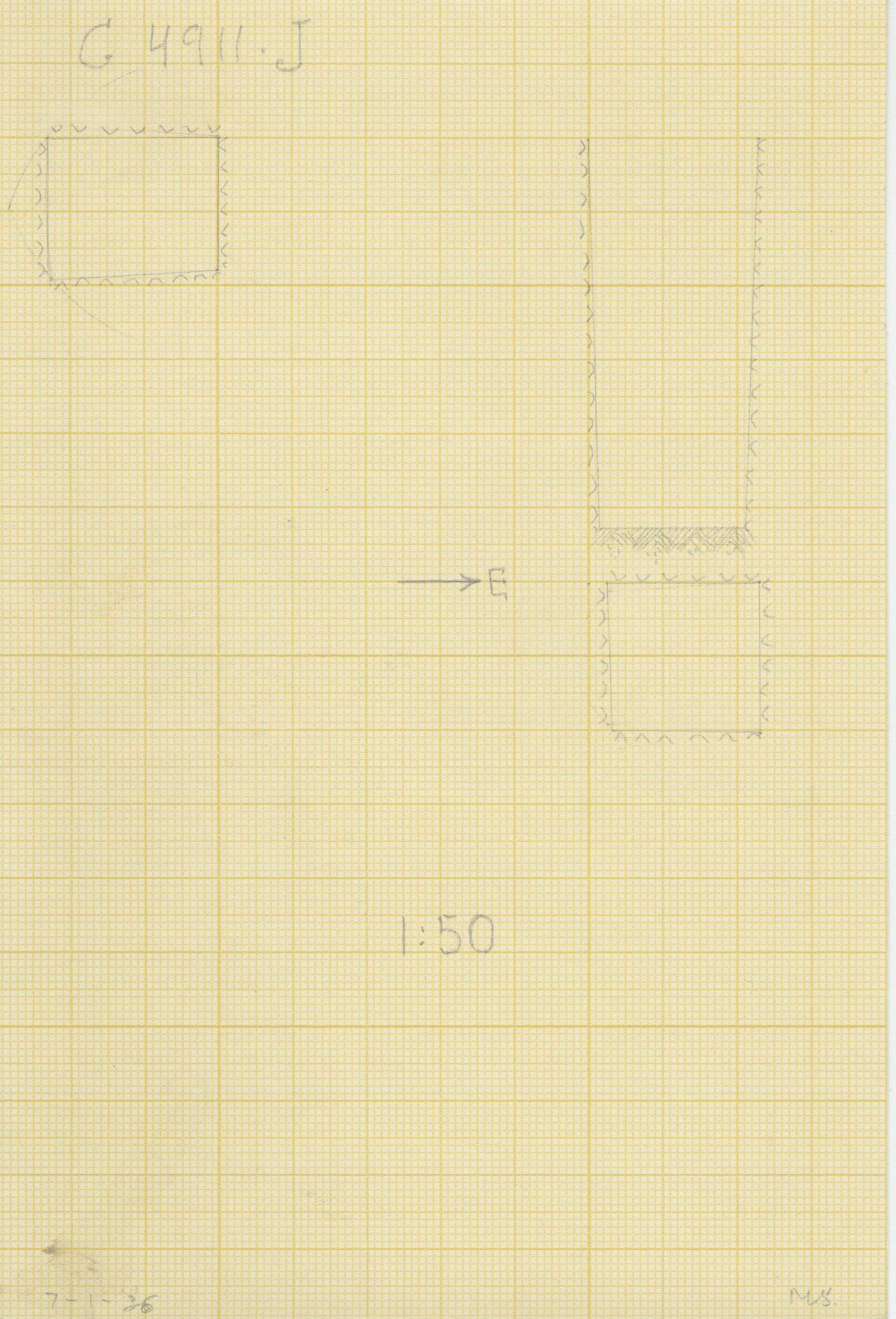 Maps and plans: G 4911, Shaft J