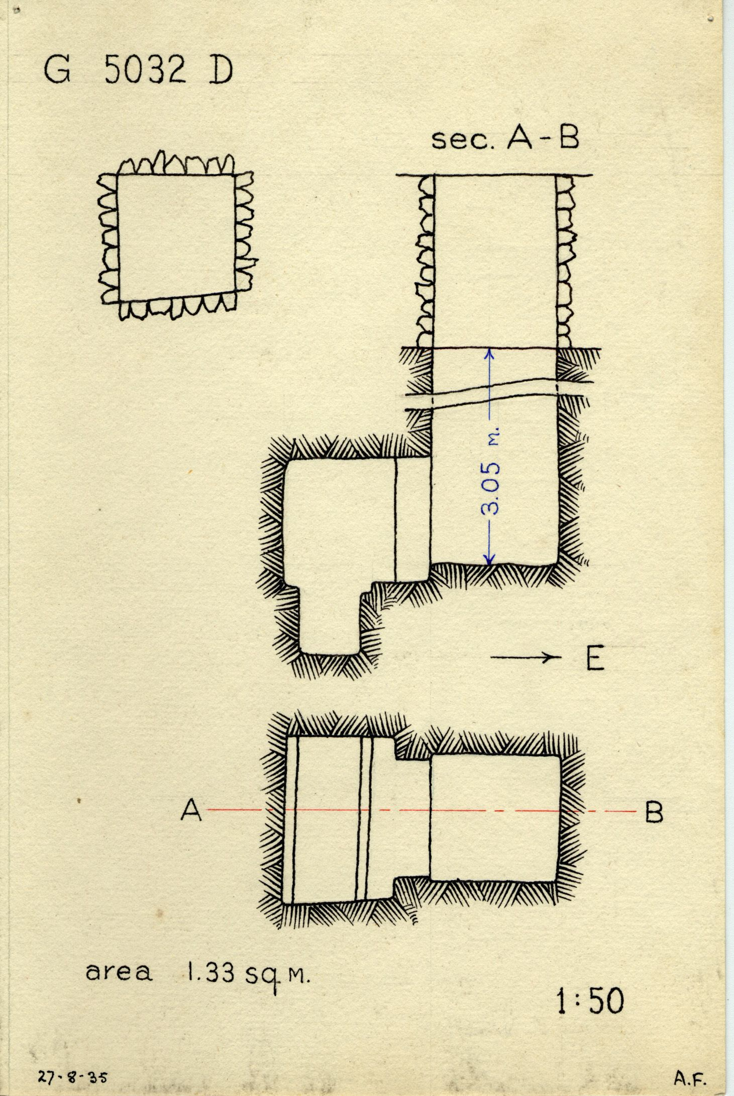 Maps and plans: G 5032, Shaft D