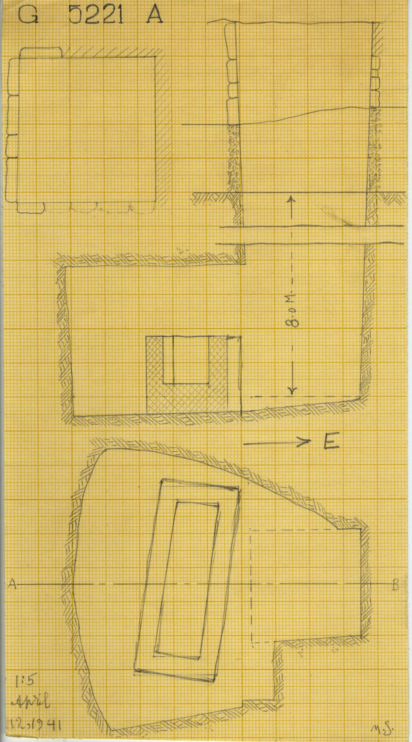 Maps and plans: G 5221, Shaft A