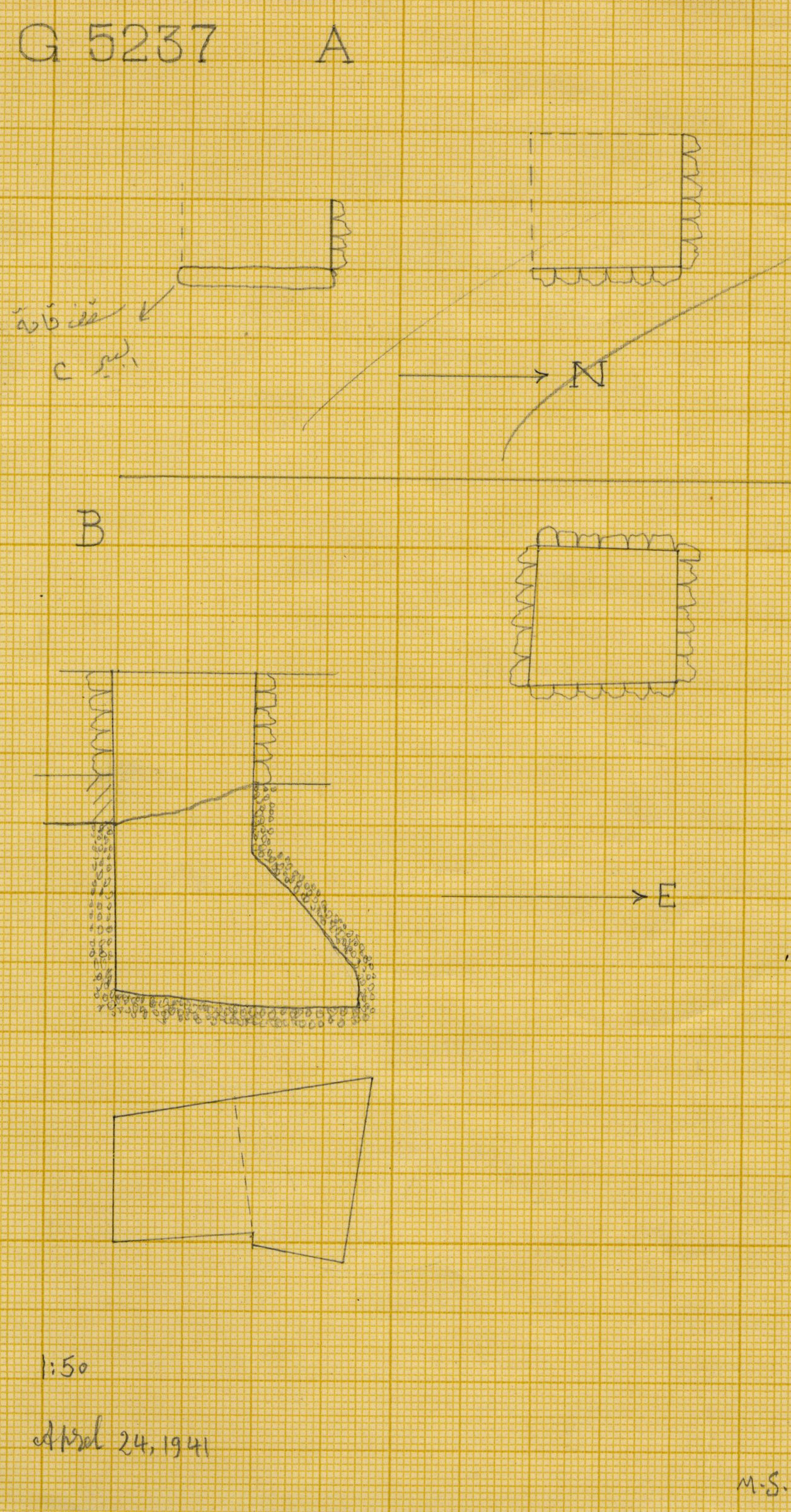 Maps and plans: G 5237, Shaft A and B