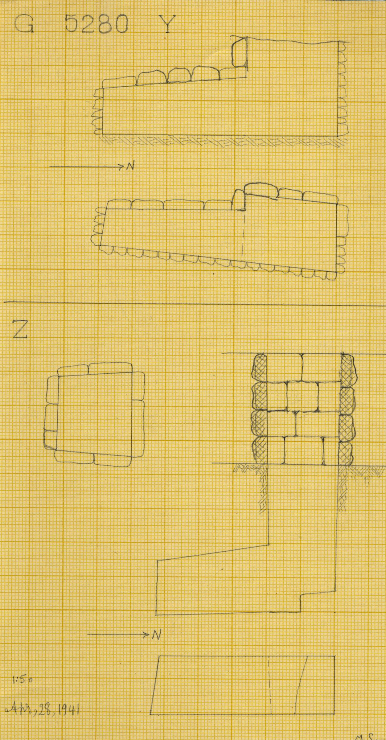 Maps and plans: G 2320 = G 5280, Shaft Y and Z