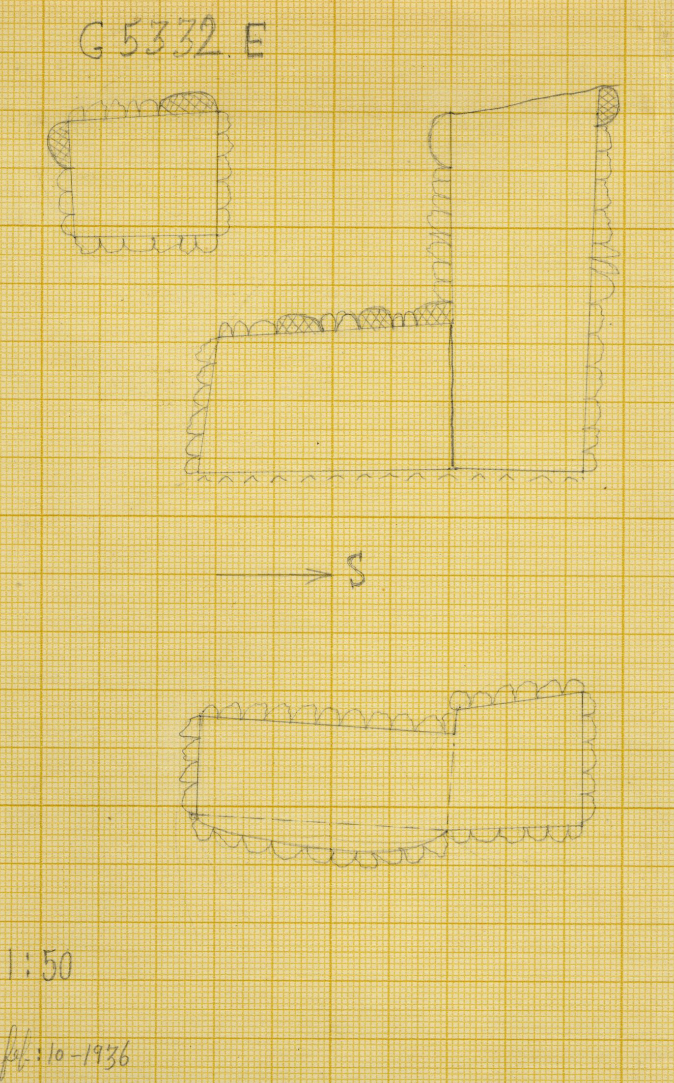 Maps and plans: G 5332, Shaft E (S 798)