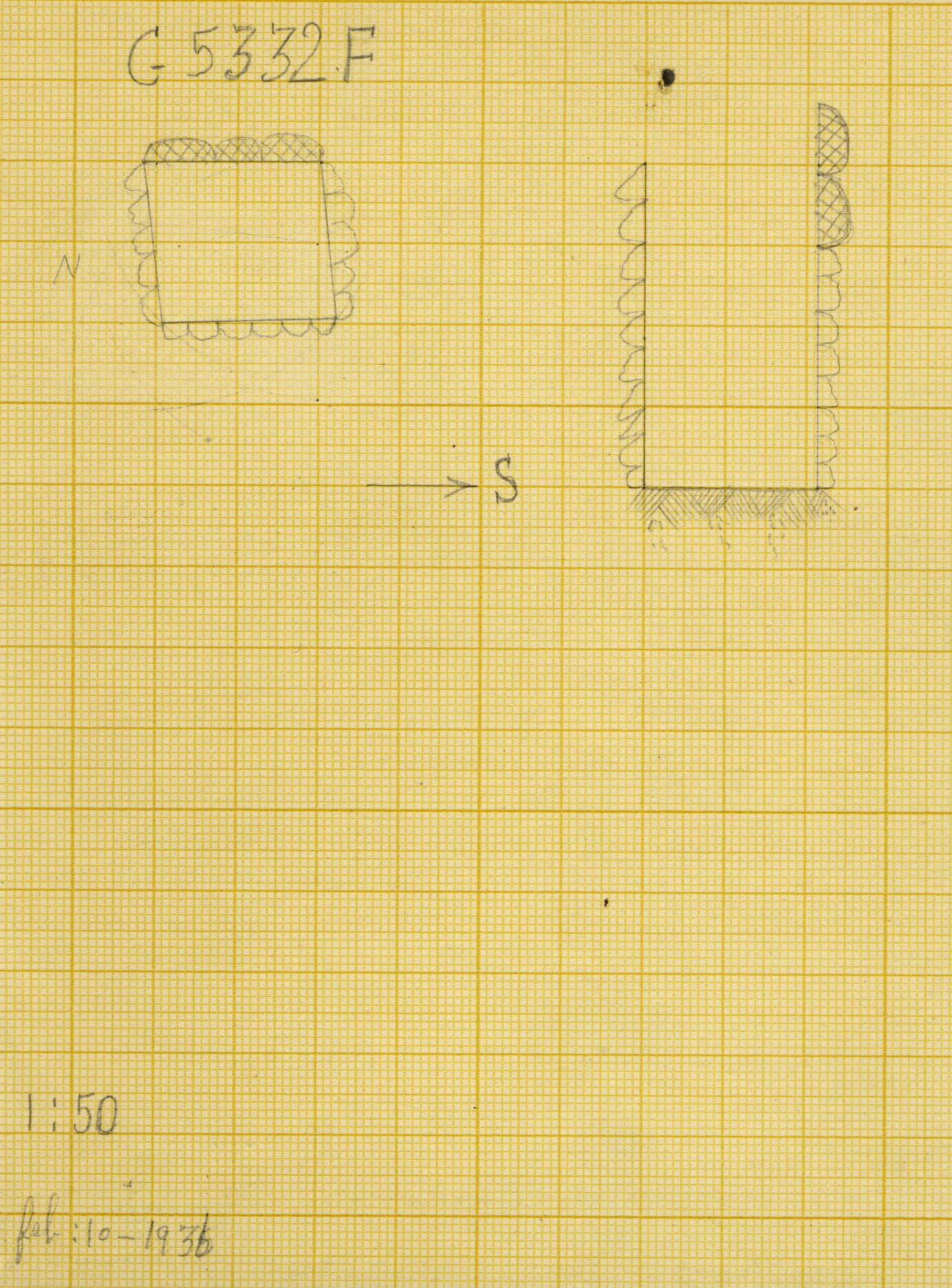 Maps and plans: G 5332, Shaft F (S 800)