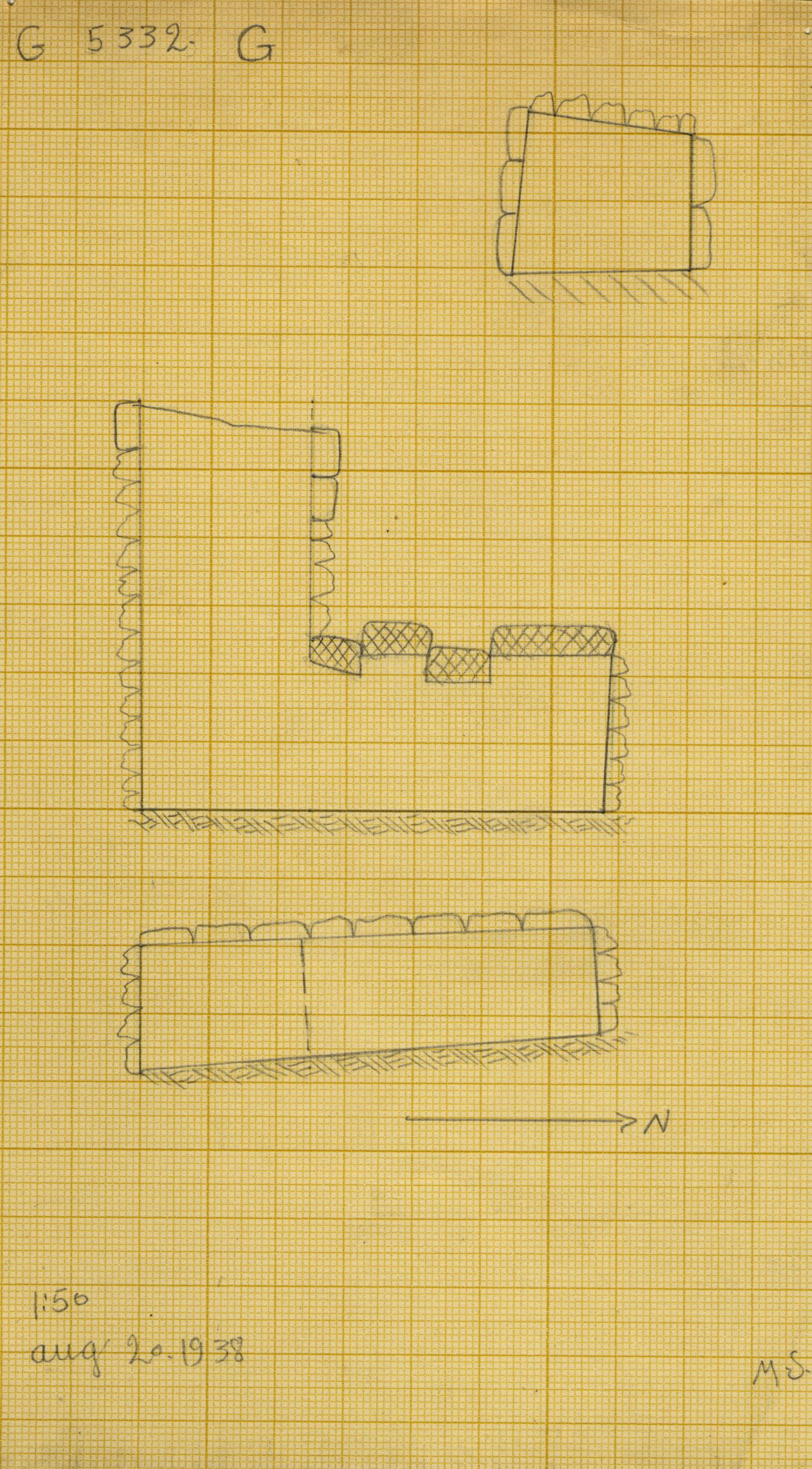 Maps and plans: G 5332, Shaft G (S 801)