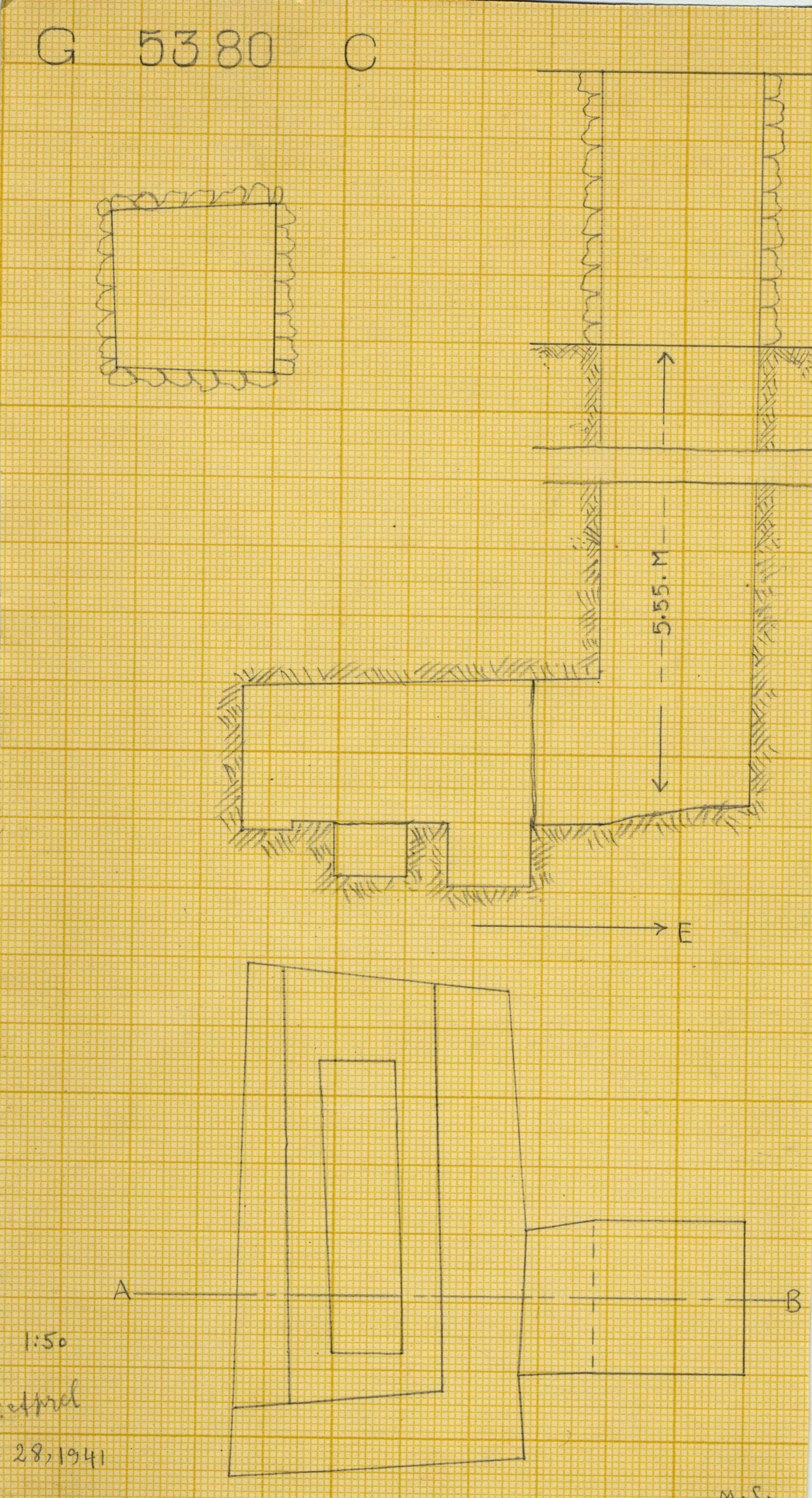 Maps and plans: G 2330 = G 5380, Shaft C