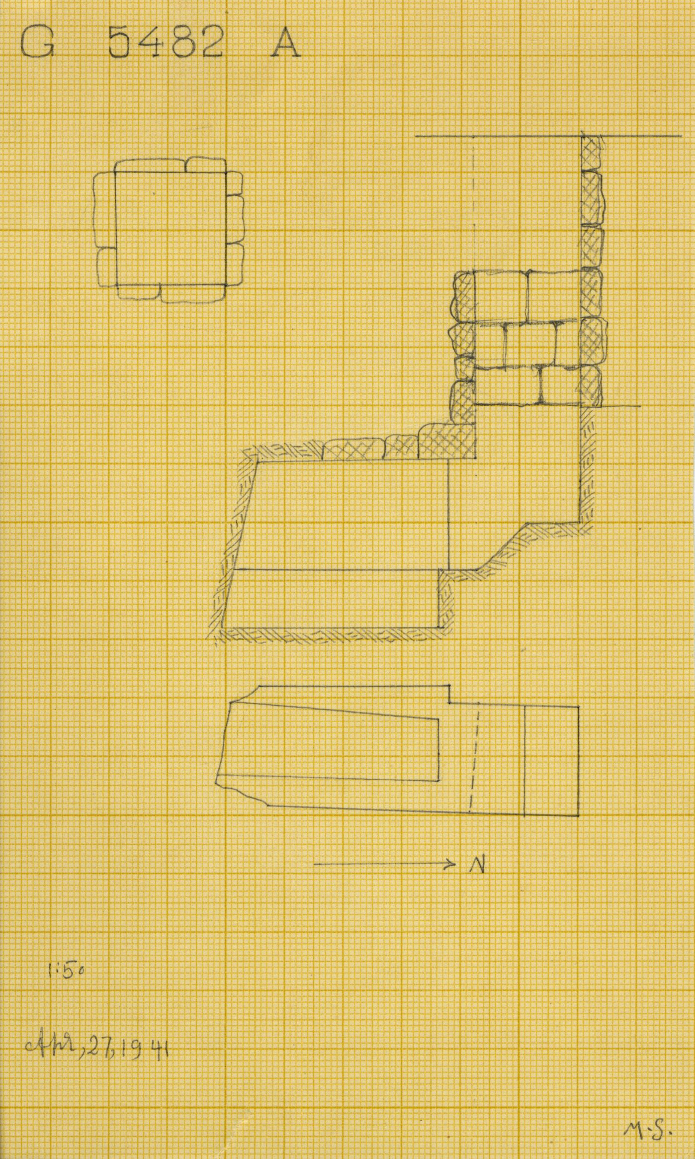 Maps and plans: G 5482, Shaft A