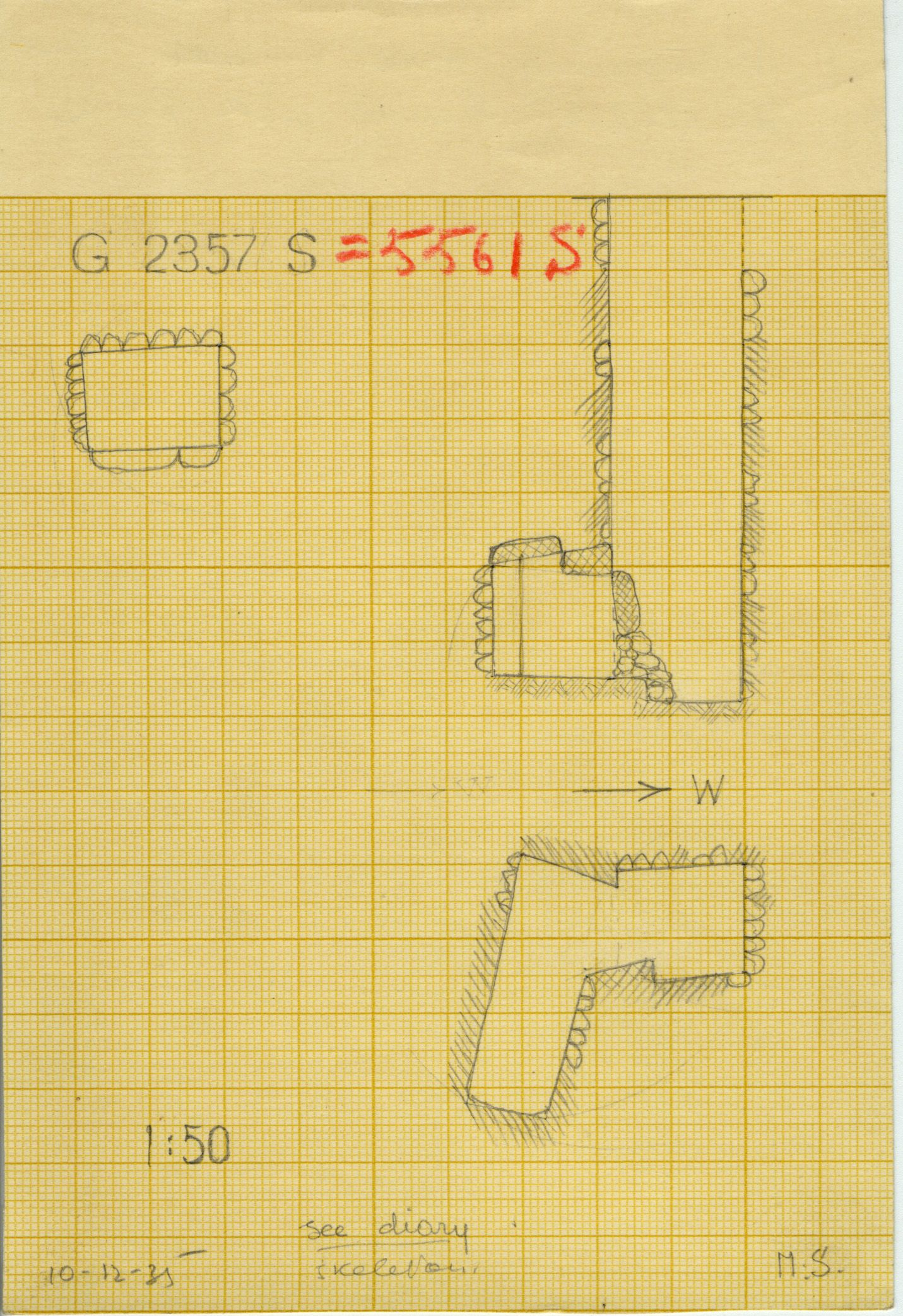 Maps and plans: G 2357 S = G 5561, Shaft S