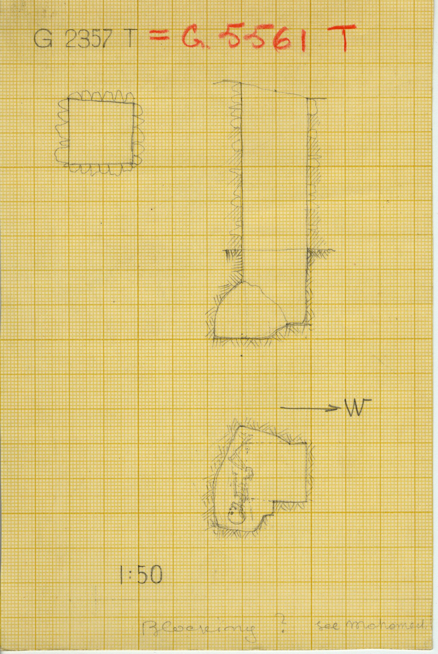 Maps and plans: G 2357 T = G 5561, Shaft T