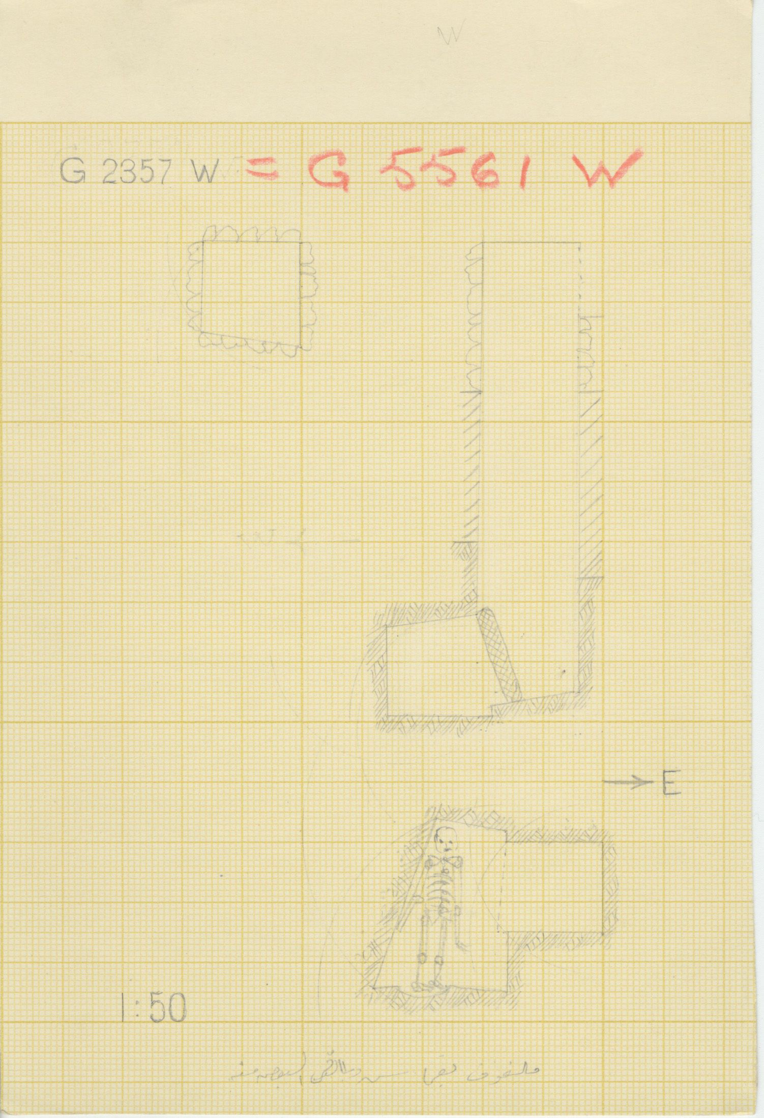 Maps and plans: G 2357 W = G 5561, Shaft W