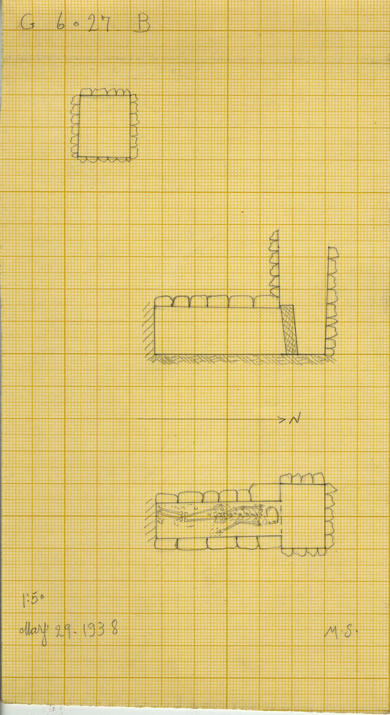 Maps and plans: G 6027, Shaft B