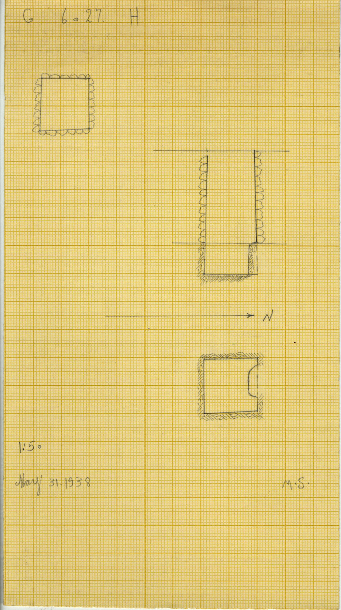 Maps and plans: G 6027, Shaft H