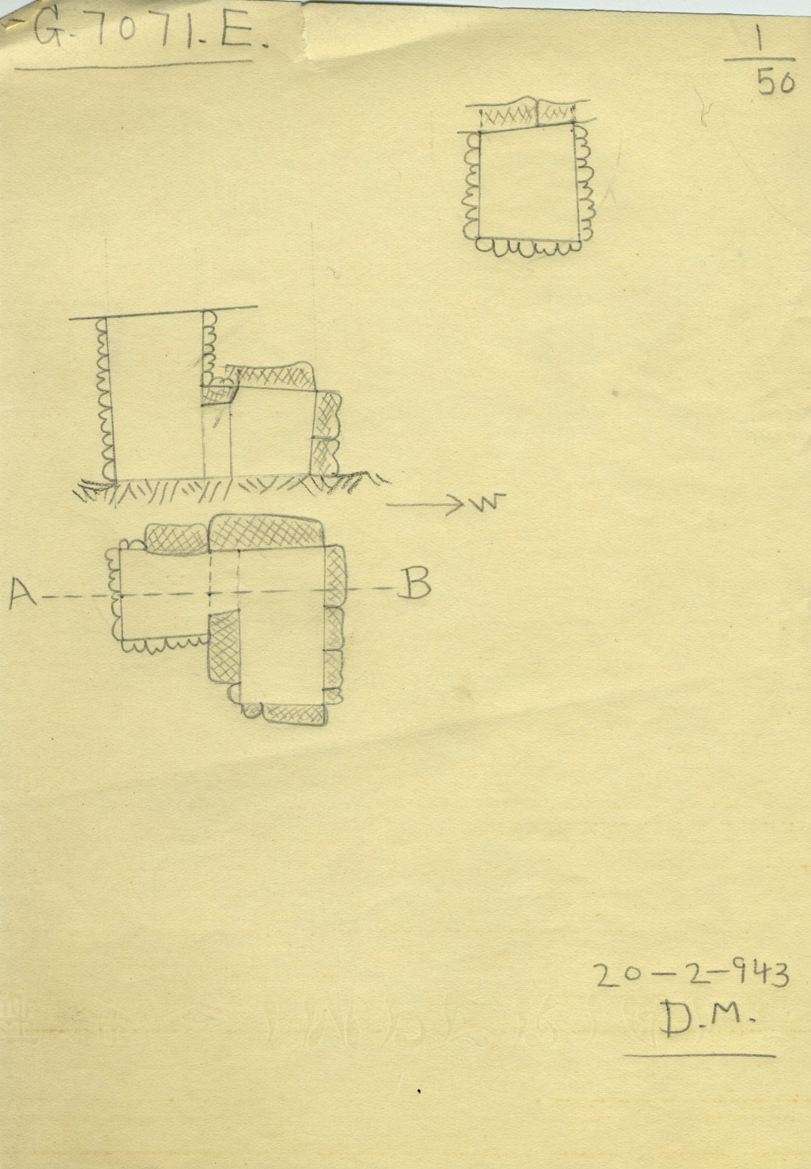 Maps and plans: G 7071, Shaft E