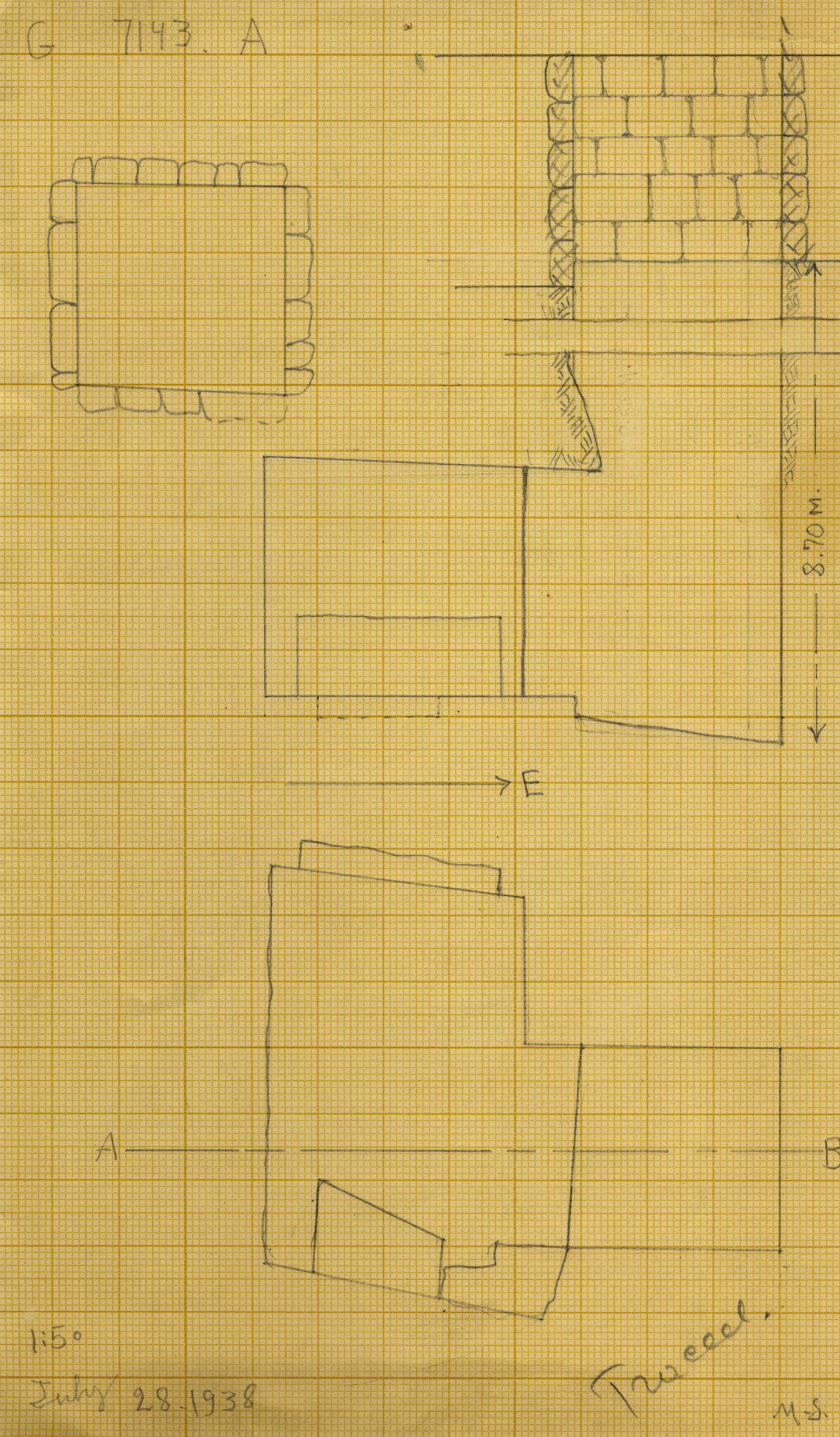 Maps and plans: G 7143, Shaft A