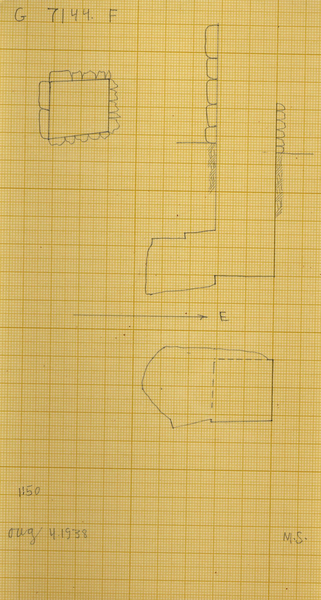 Maps and plans: G 7144, Shaft F