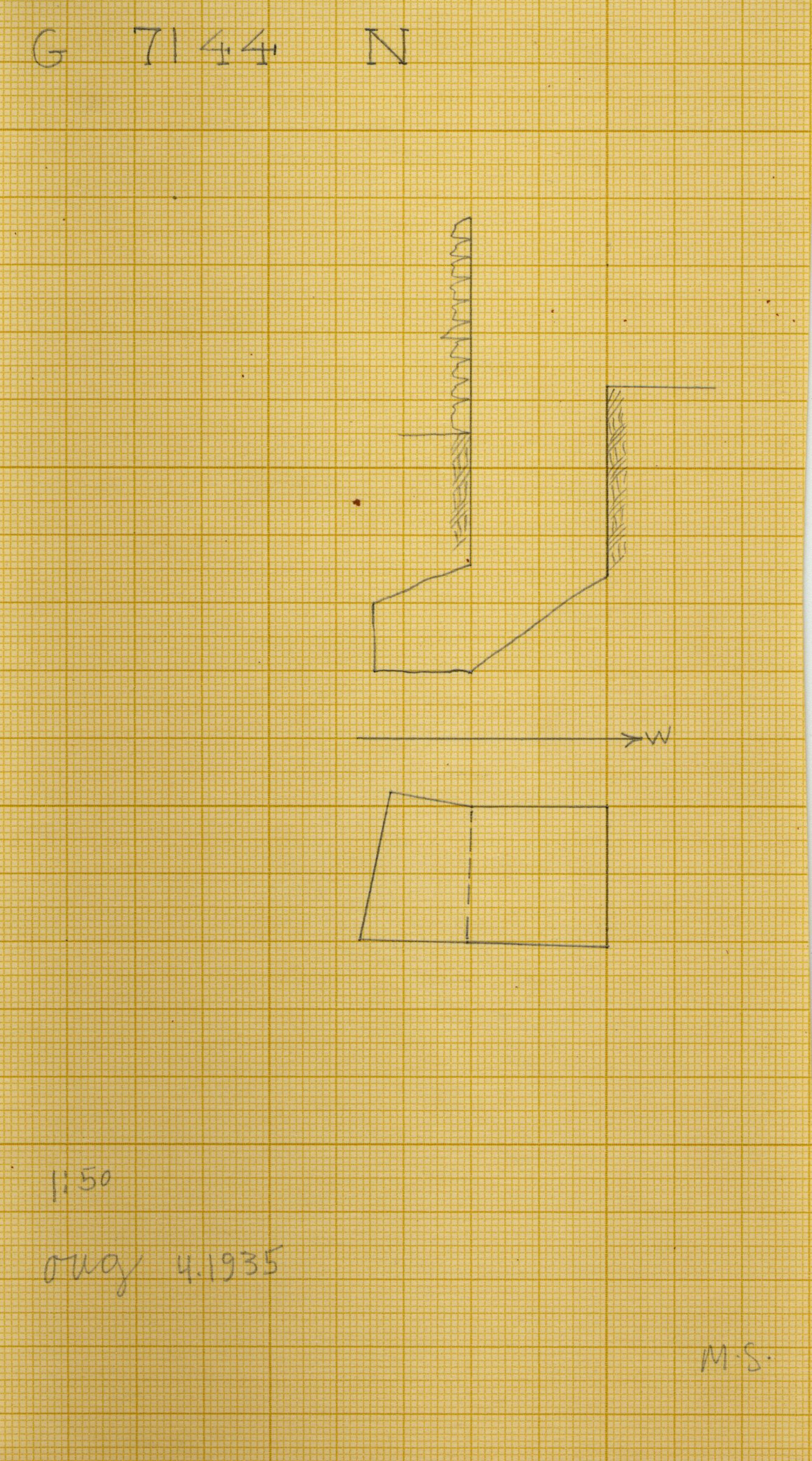 Maps and plans: G 7144, Shaft N