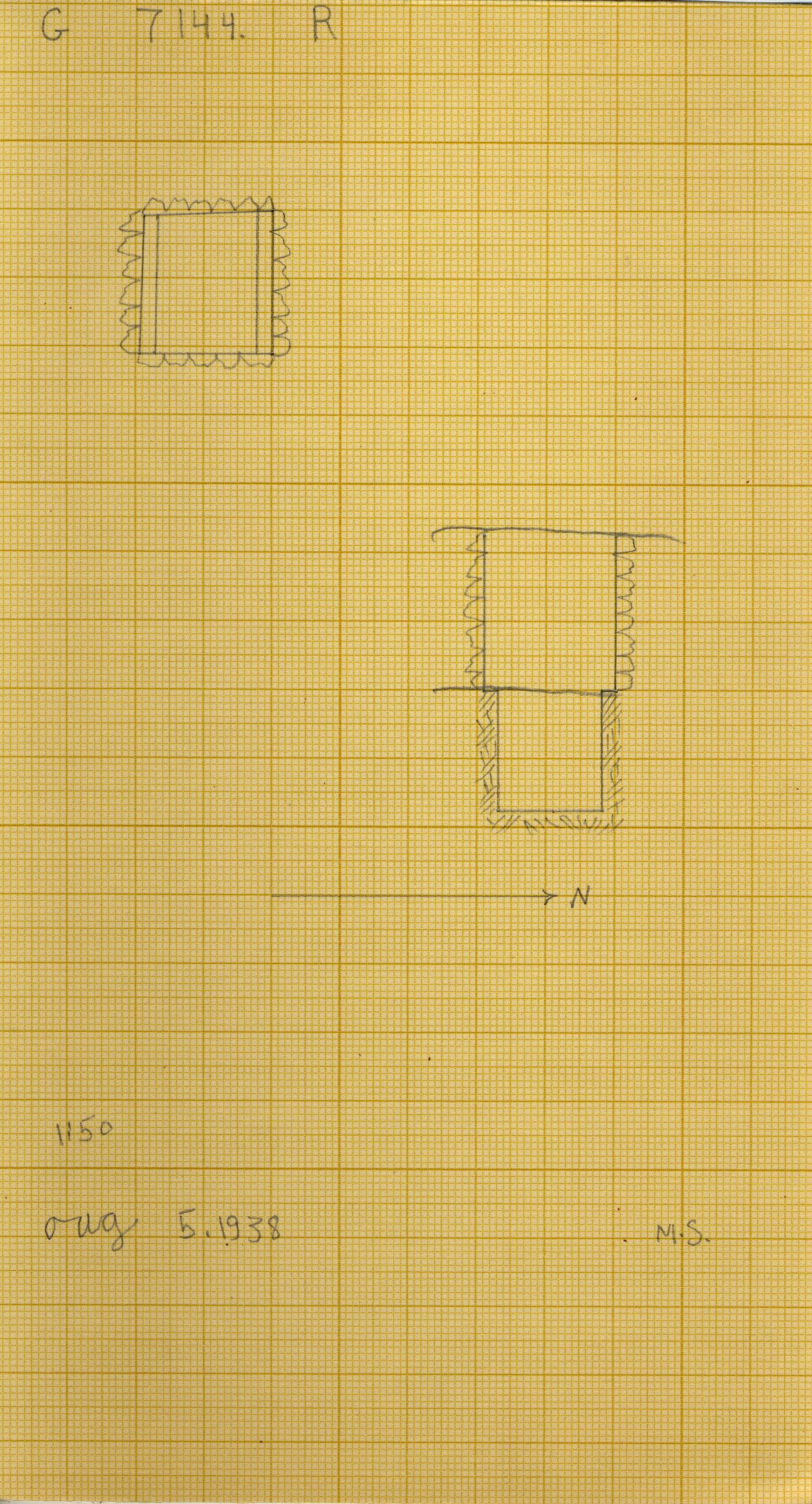 Maps and plans: G 7144, Shaft R