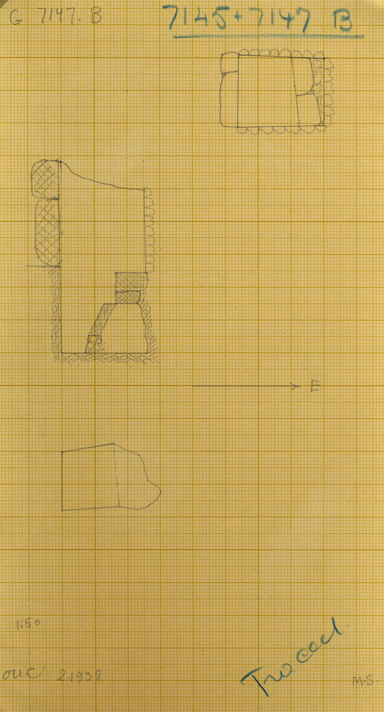 Maps and plans: G 7145+7147: G 7147, Shaft B