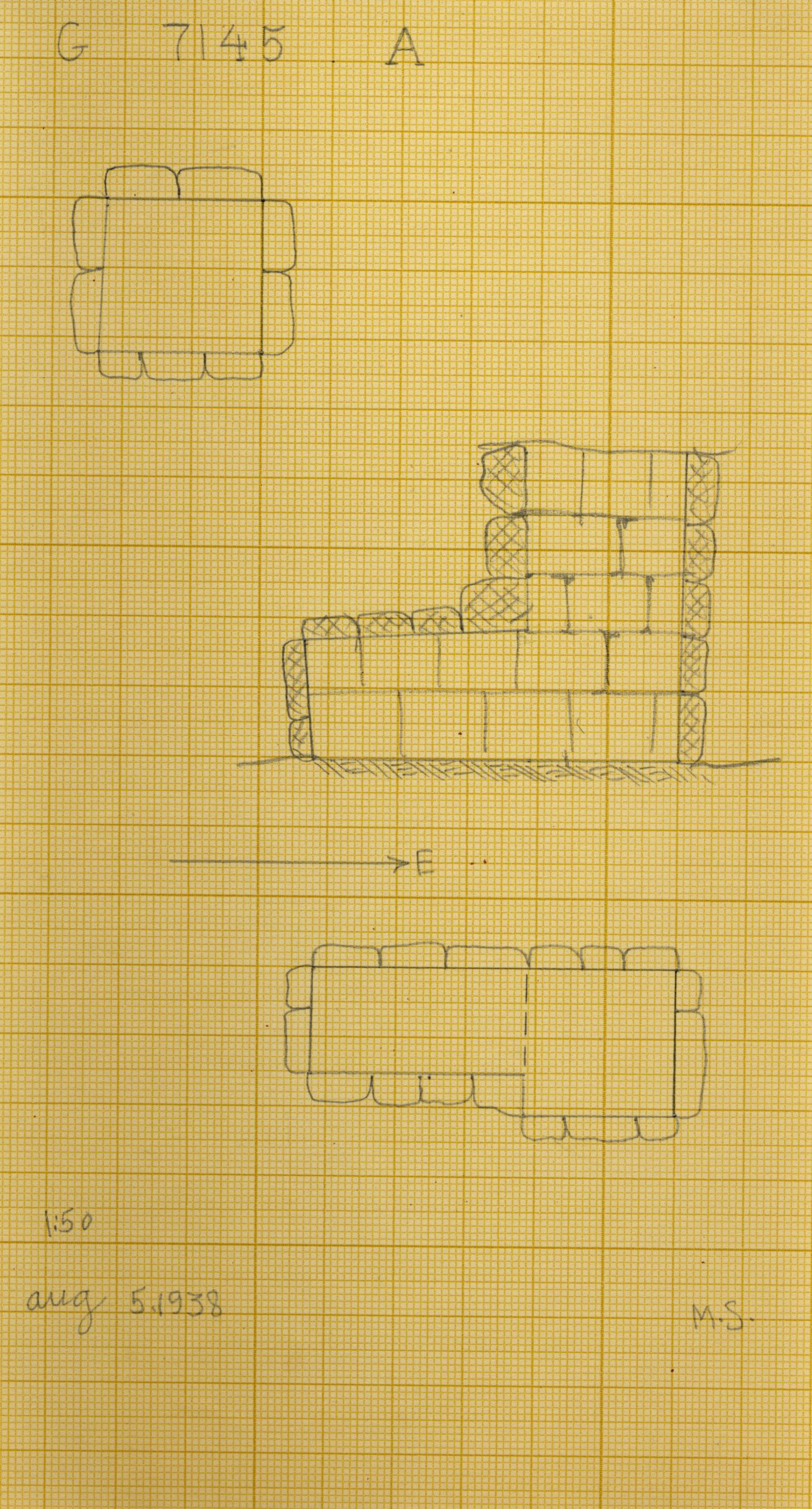 Maps and plans: G 7145+7147: G 7145, Shaft A